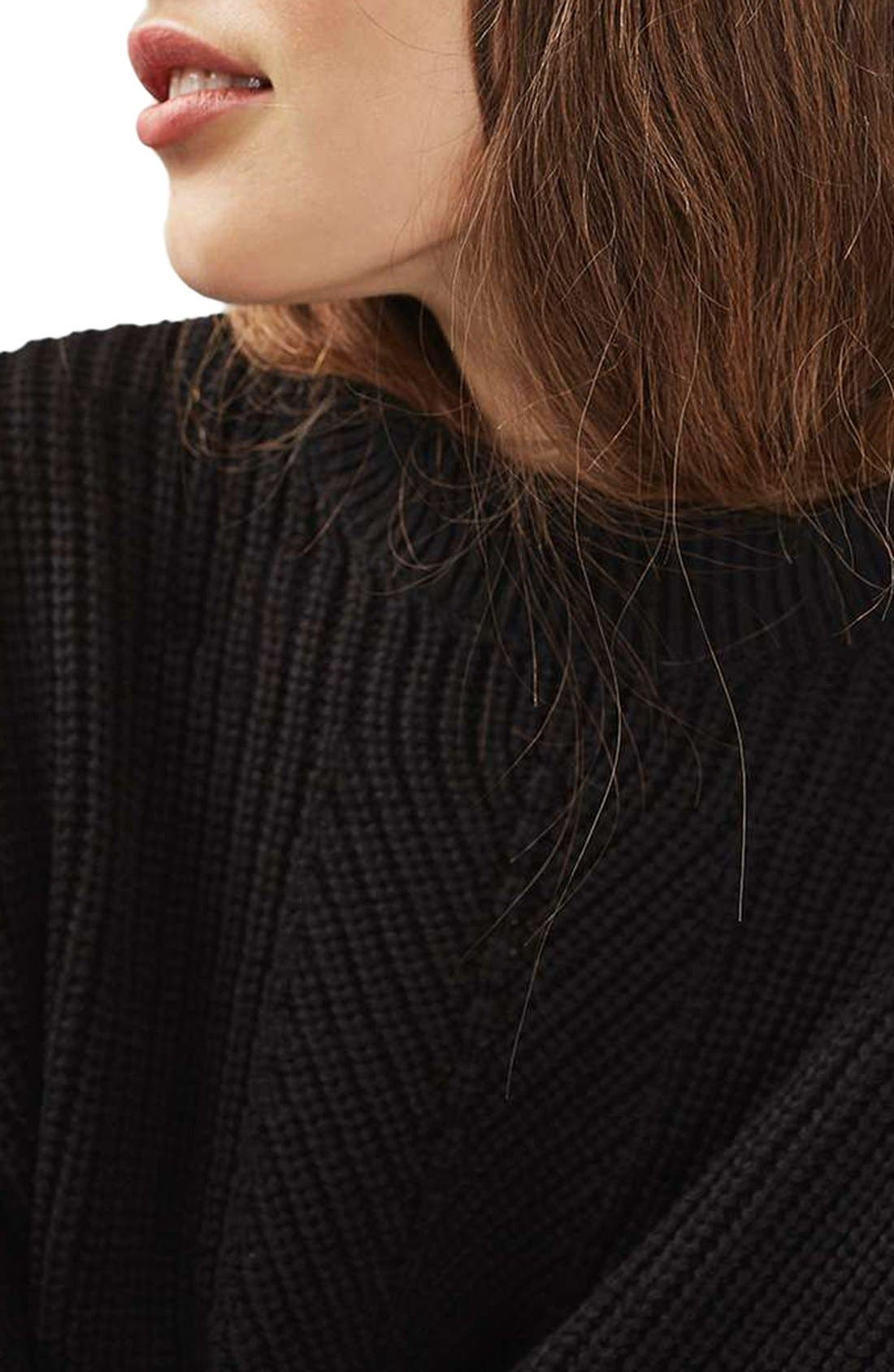 Alternate Image 5  - Topshop Ribbed Sweater