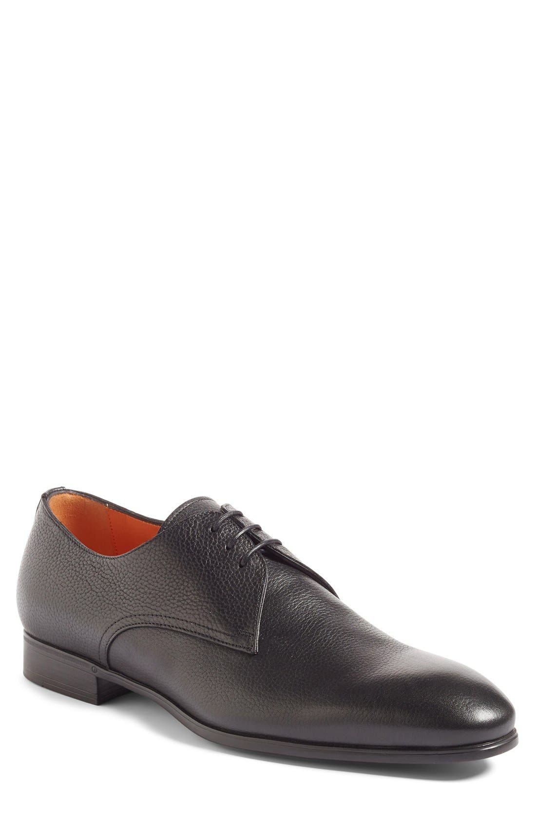 Santoni Wescott Plain Toe Derby (Men)