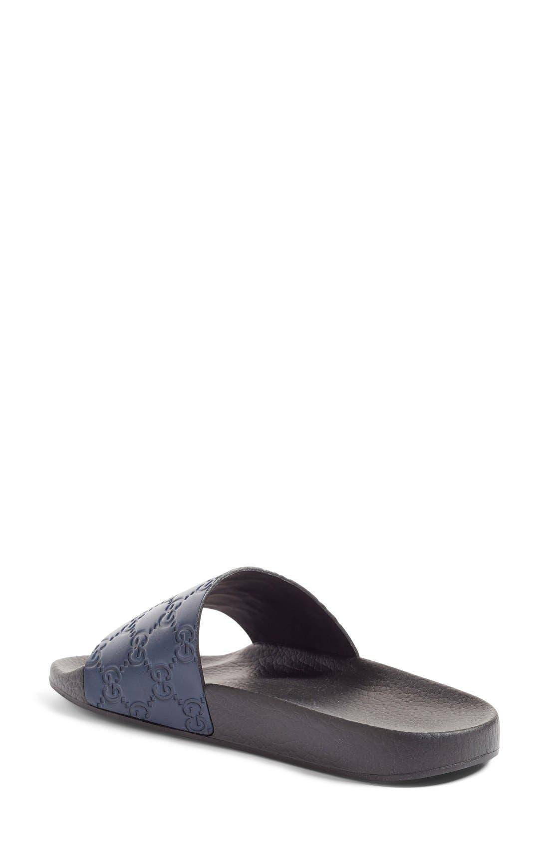 Alternate Image 2  - Gucci Pursuit Logo Slide Sandal (Women)