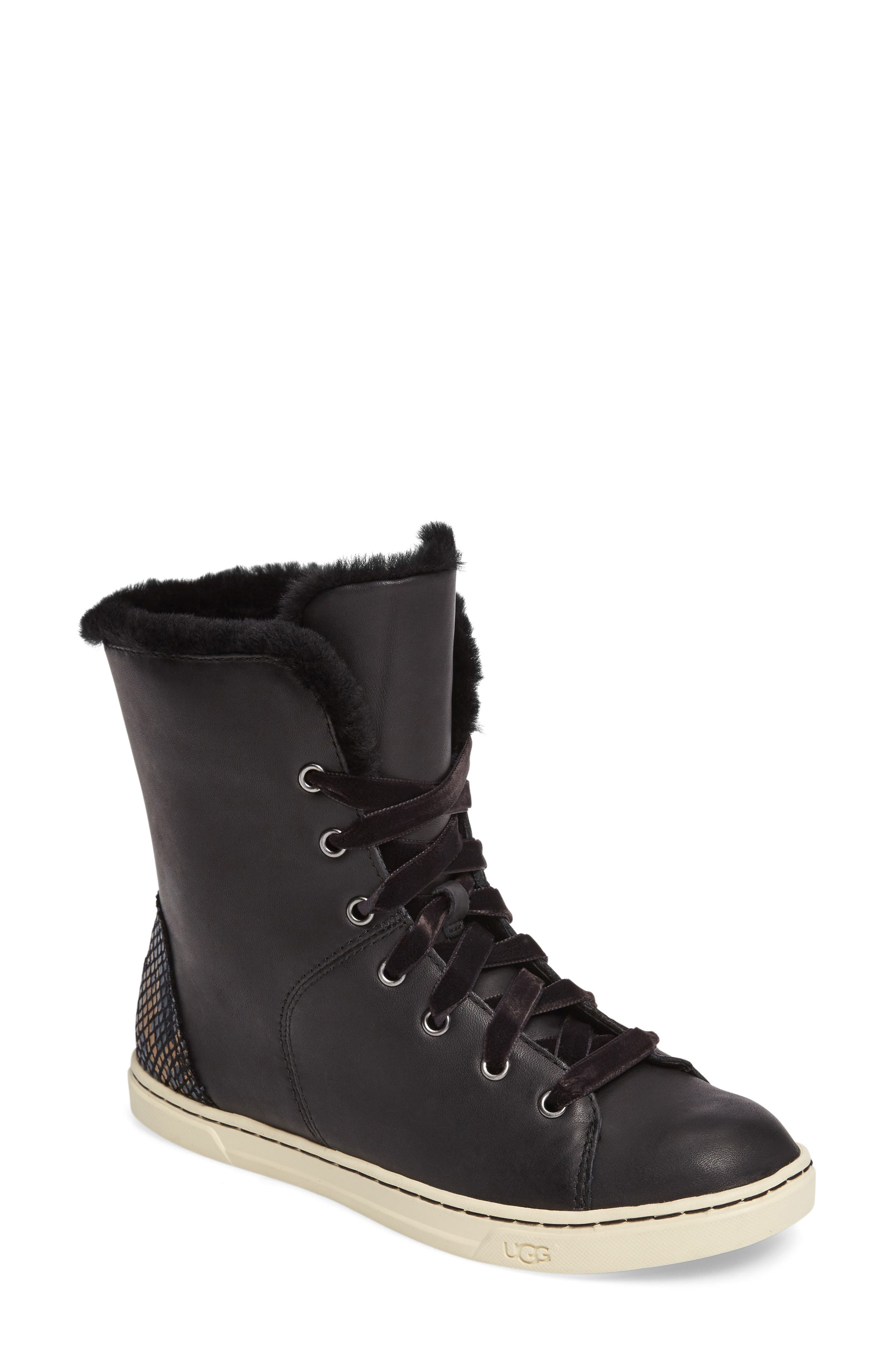 Alternate Image 1 Selected - UGG® Croft Exotic Velvet Sneaker