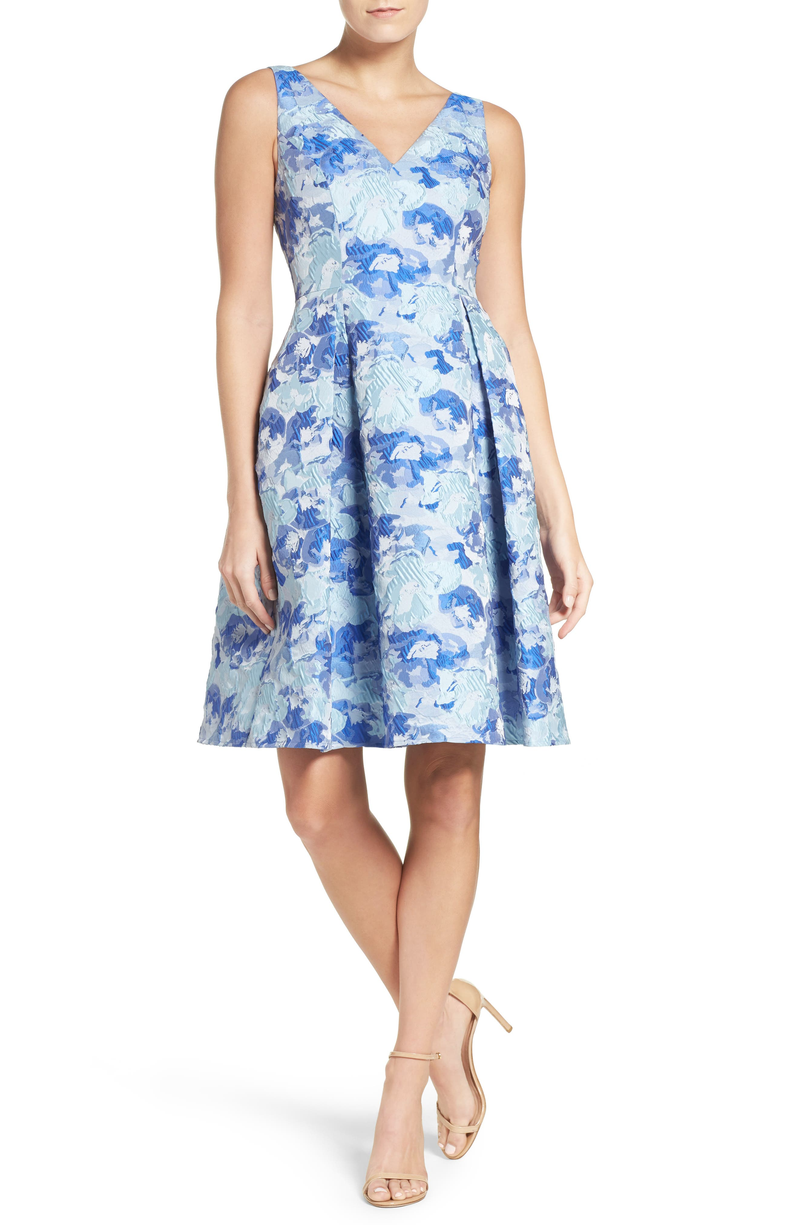 Alternate Image 4  - Adrianna Papell Floral Fit & Flare Dress