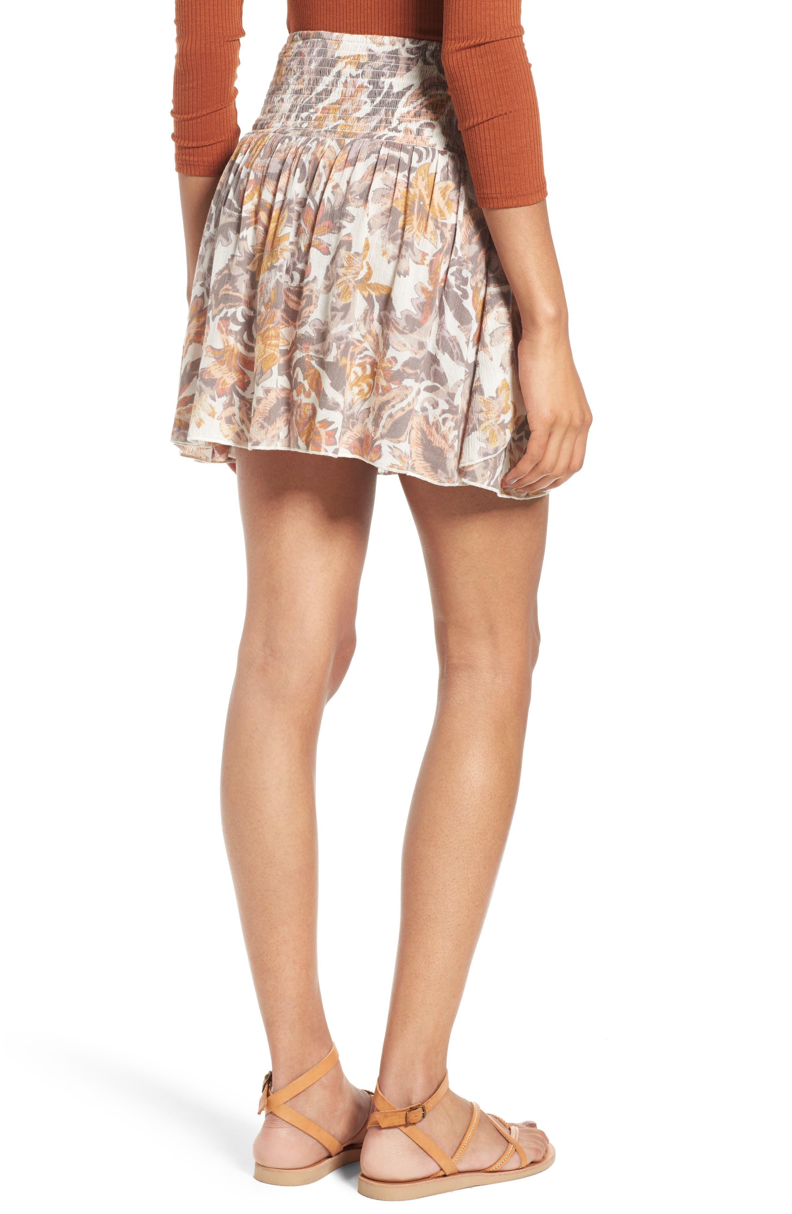 Alternate Image 2  - Sun & Shadow Print Smocked Waist Skirt