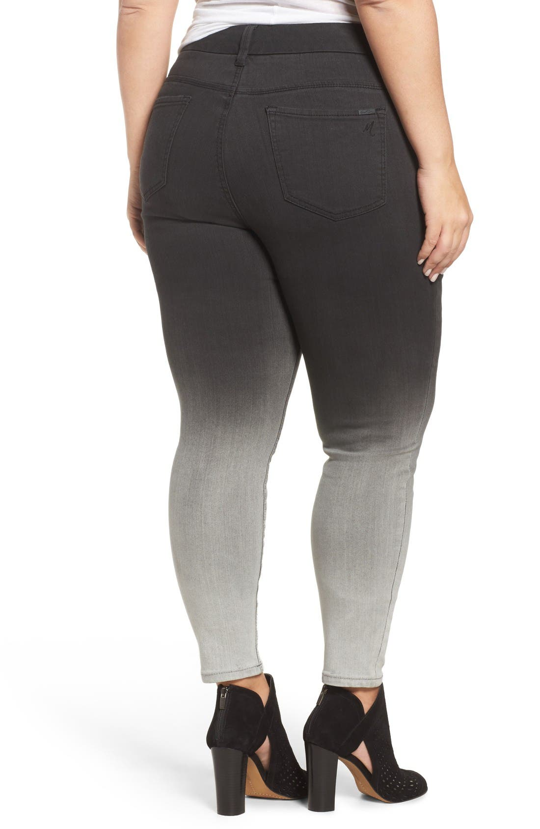 Alternate Image 2  - Melissa McCarthy Seven7 Stretch Ombré Pencil Jeans (Dover) (Plus Size)