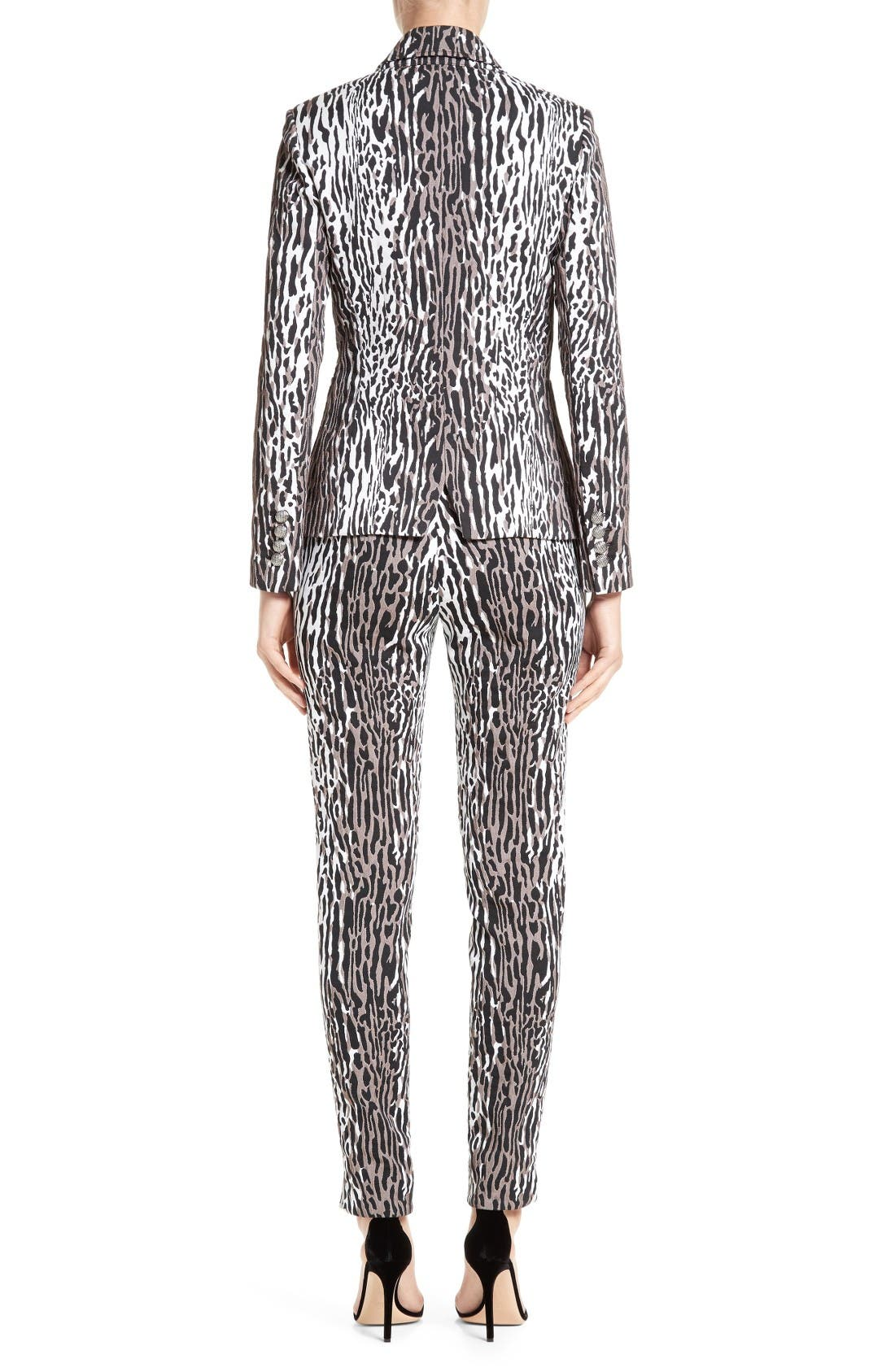 Alternate Image 2  - St. John Collection Leopard Jacquard Ankle Pants