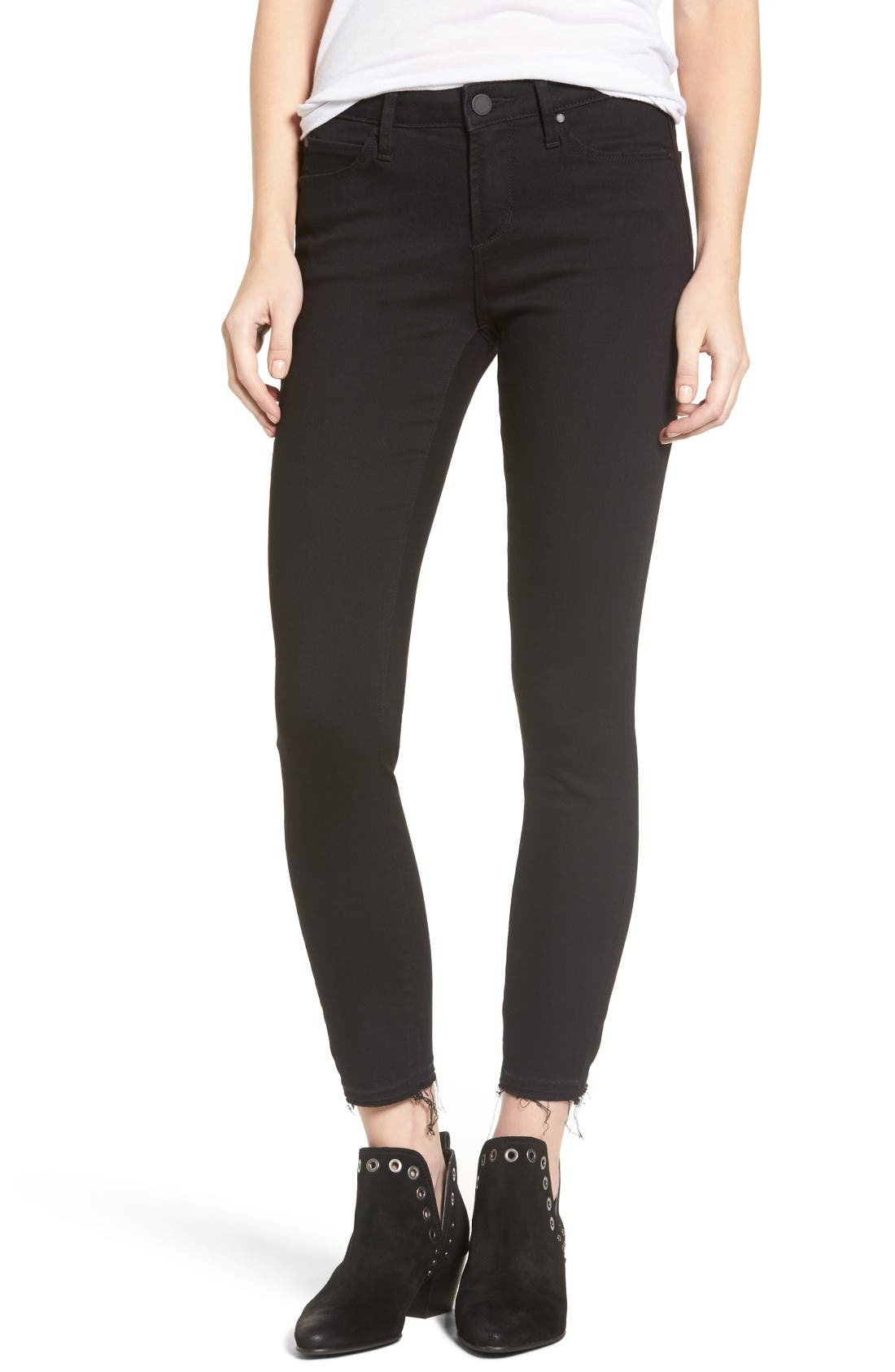 Main Image - Articles of Society Carly Crop Skinny Jeans (Dunlop)