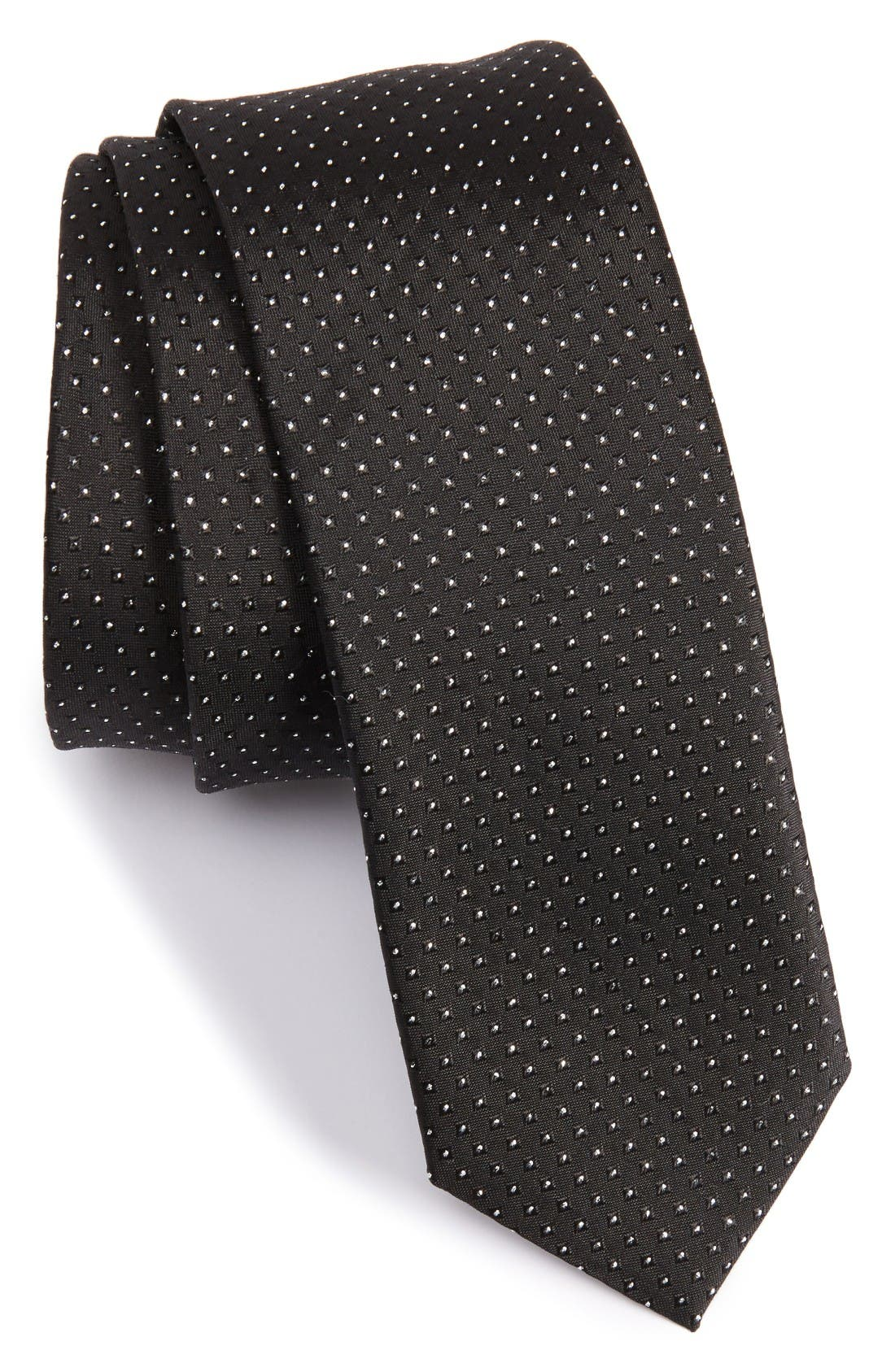 BOSS Metallic Dot Silk Blend Tie