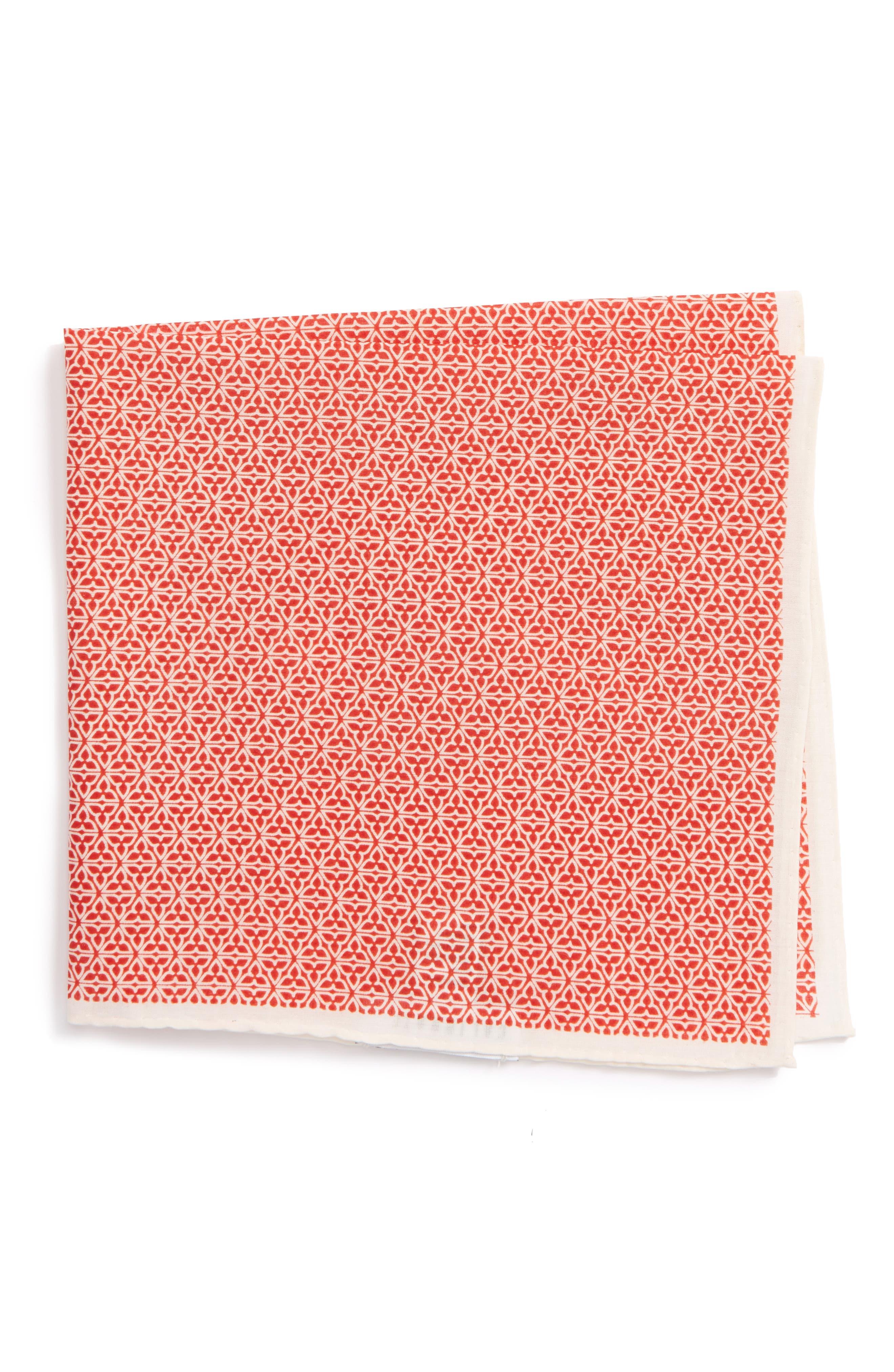 Main Image - Calibrate Clover Cotton & Silk Pocket Square