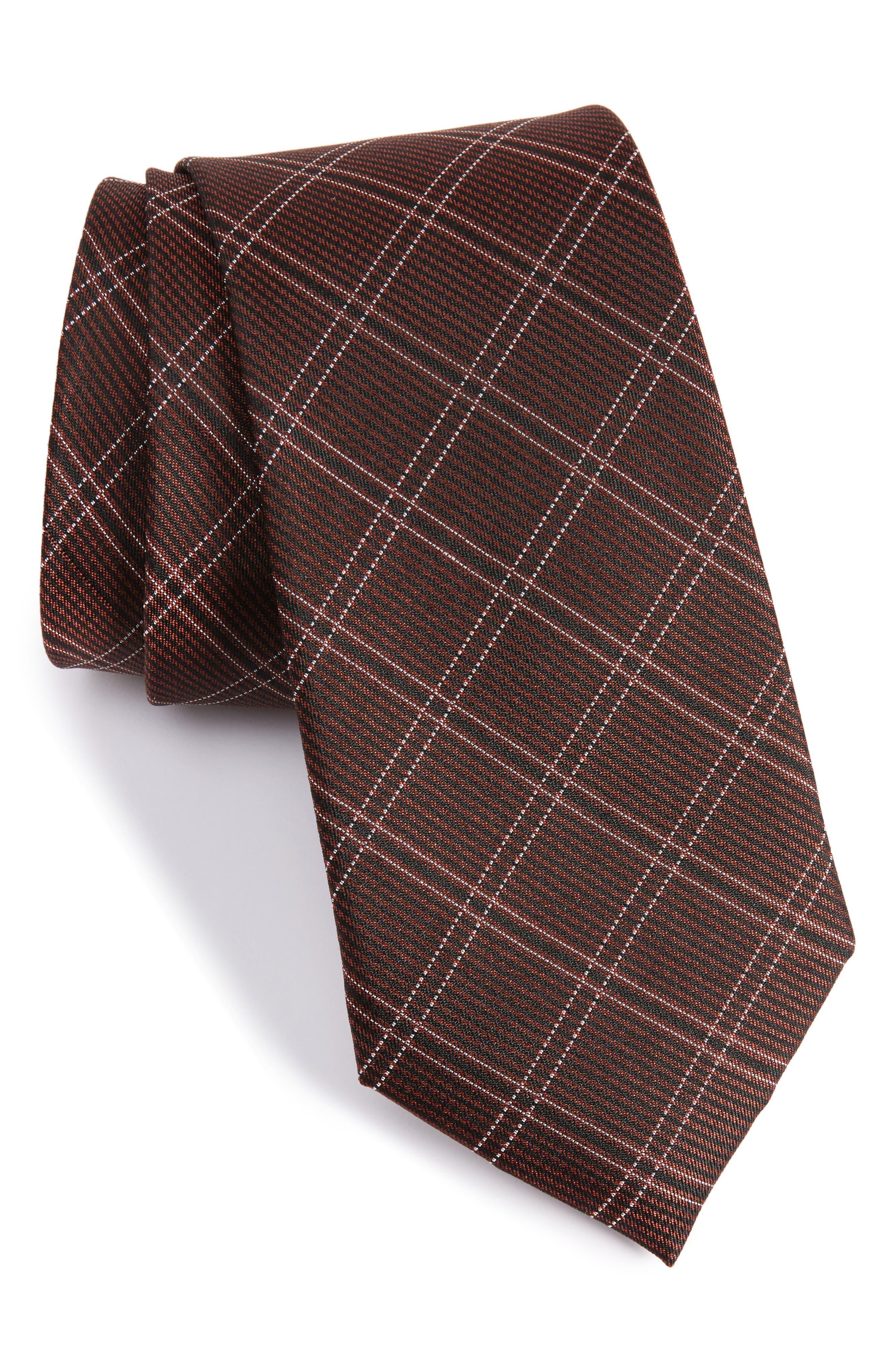 CALIBRATE Plaid Silk Tie