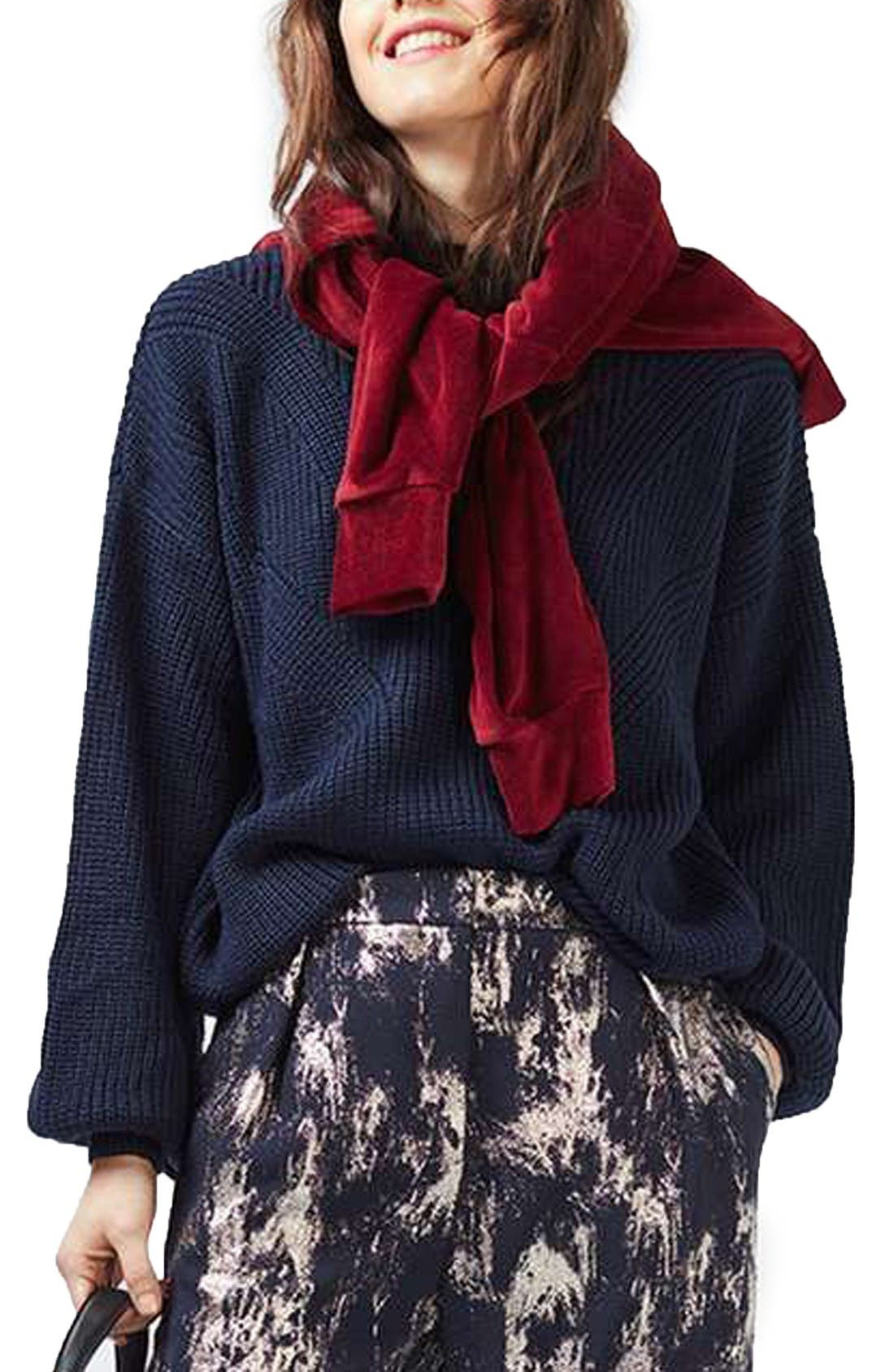 Alternate Image 3  - Topshop Blouson Sleeve Sweater