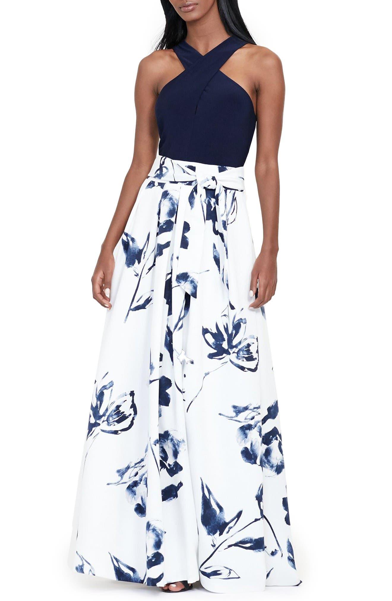 Main Image - Lauren Ralph Lauren Fit & Flare Gown
