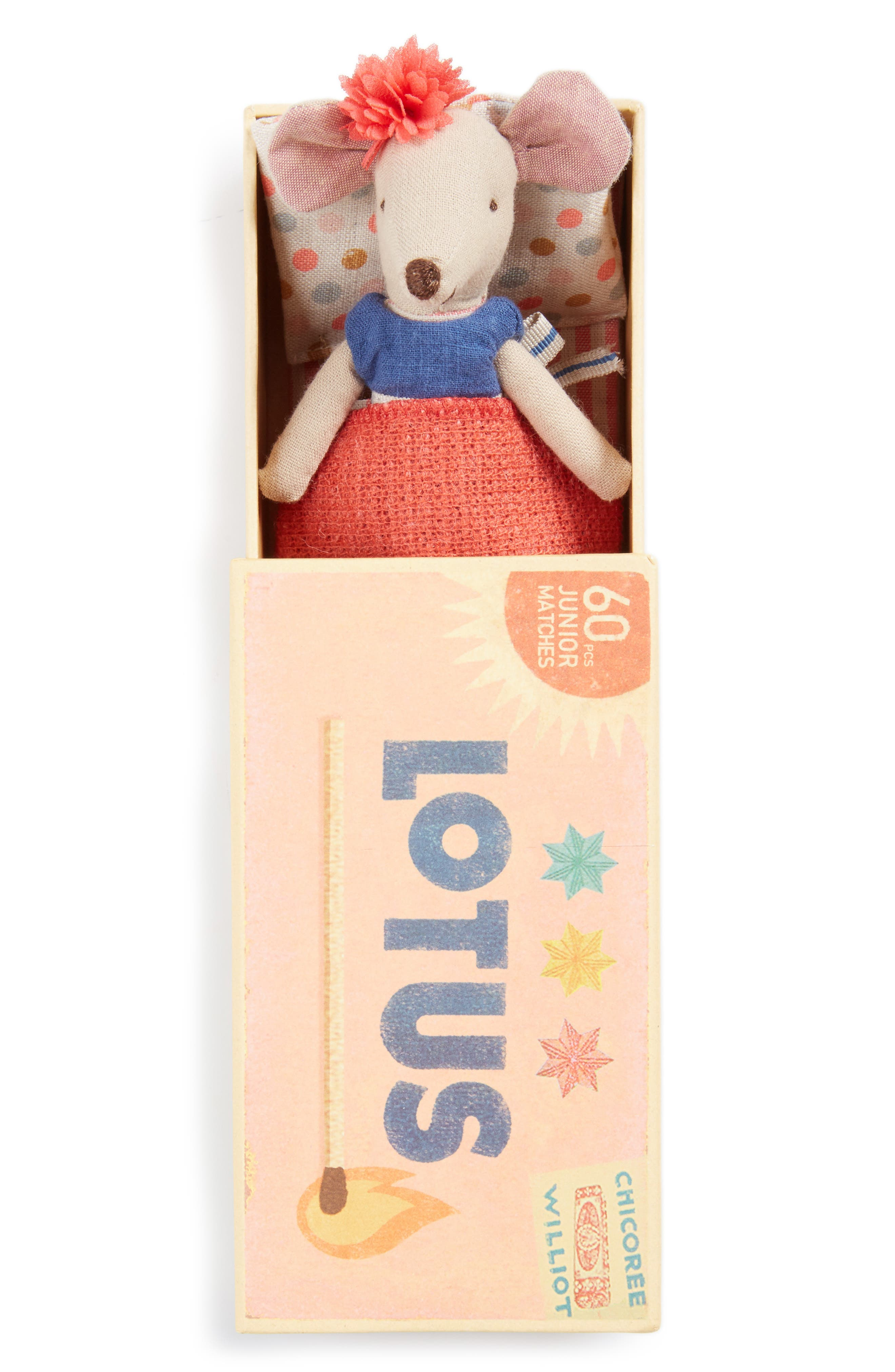 Maileg Big Sister Stuffed Toy Mouse in a Box