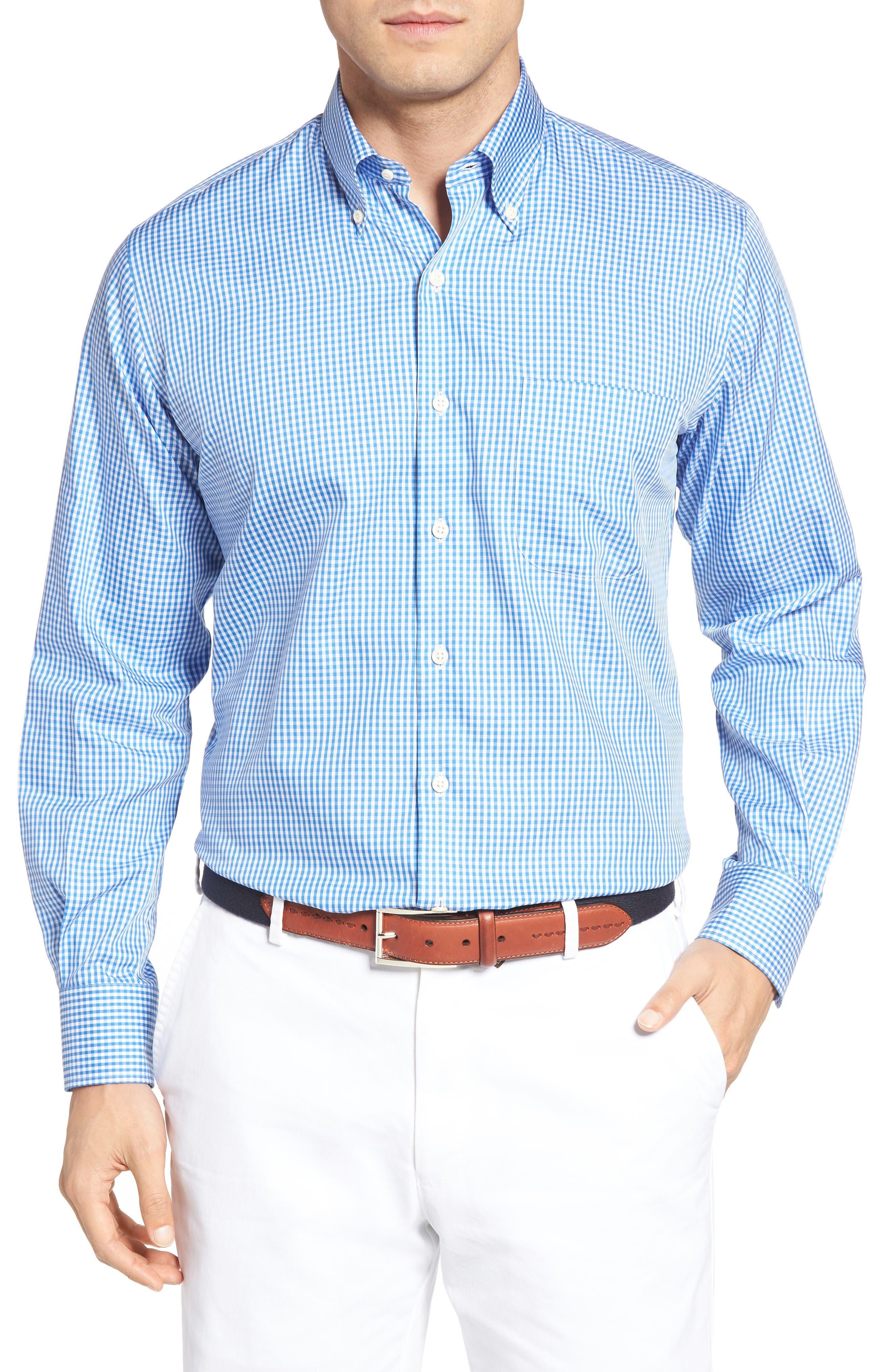 Peter Millar Crown Soft Gingham Regular Fit Sport Shirt