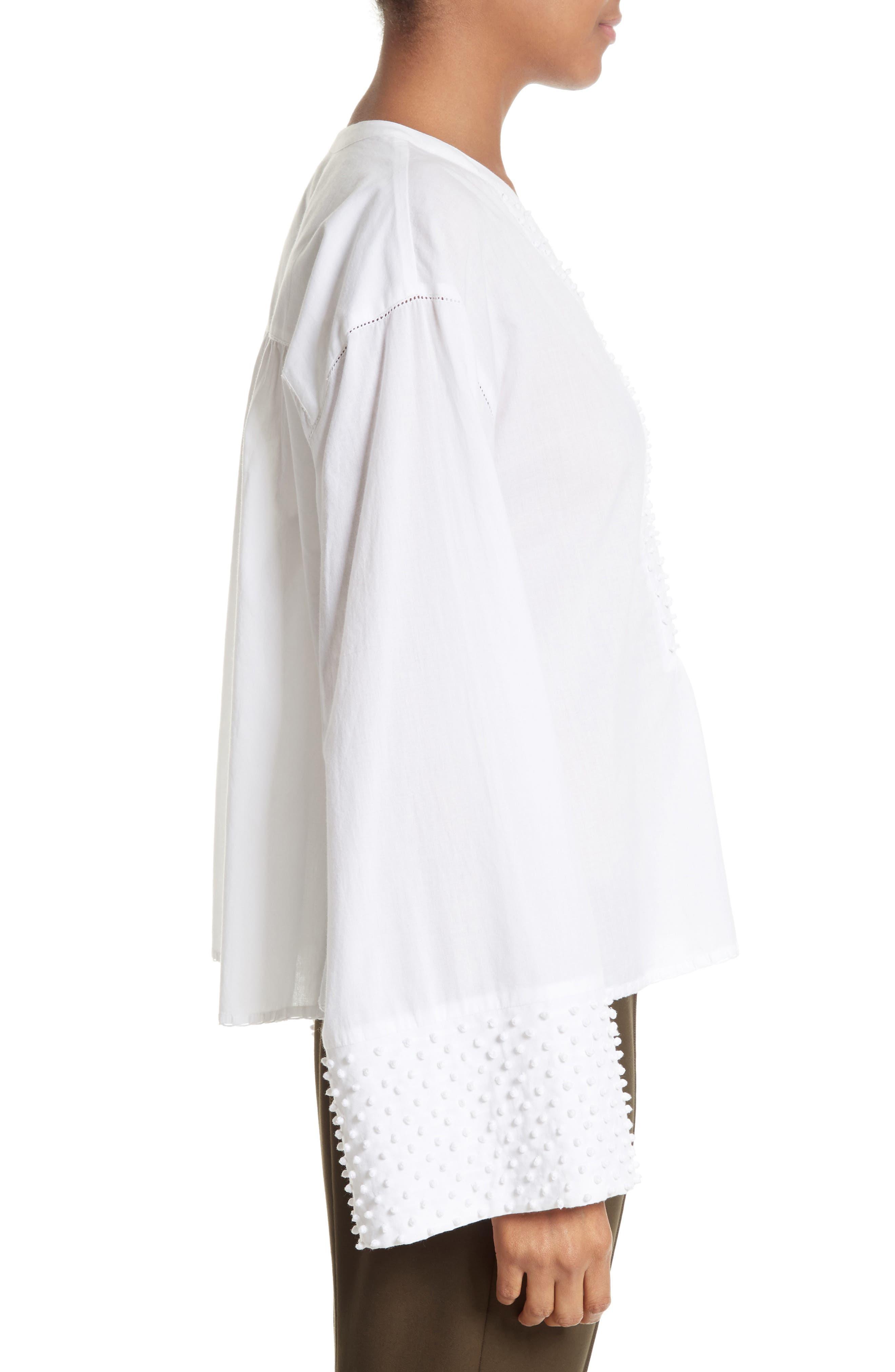 Alternate Image 3  - Theory Matara E Embroidered Cotton Top