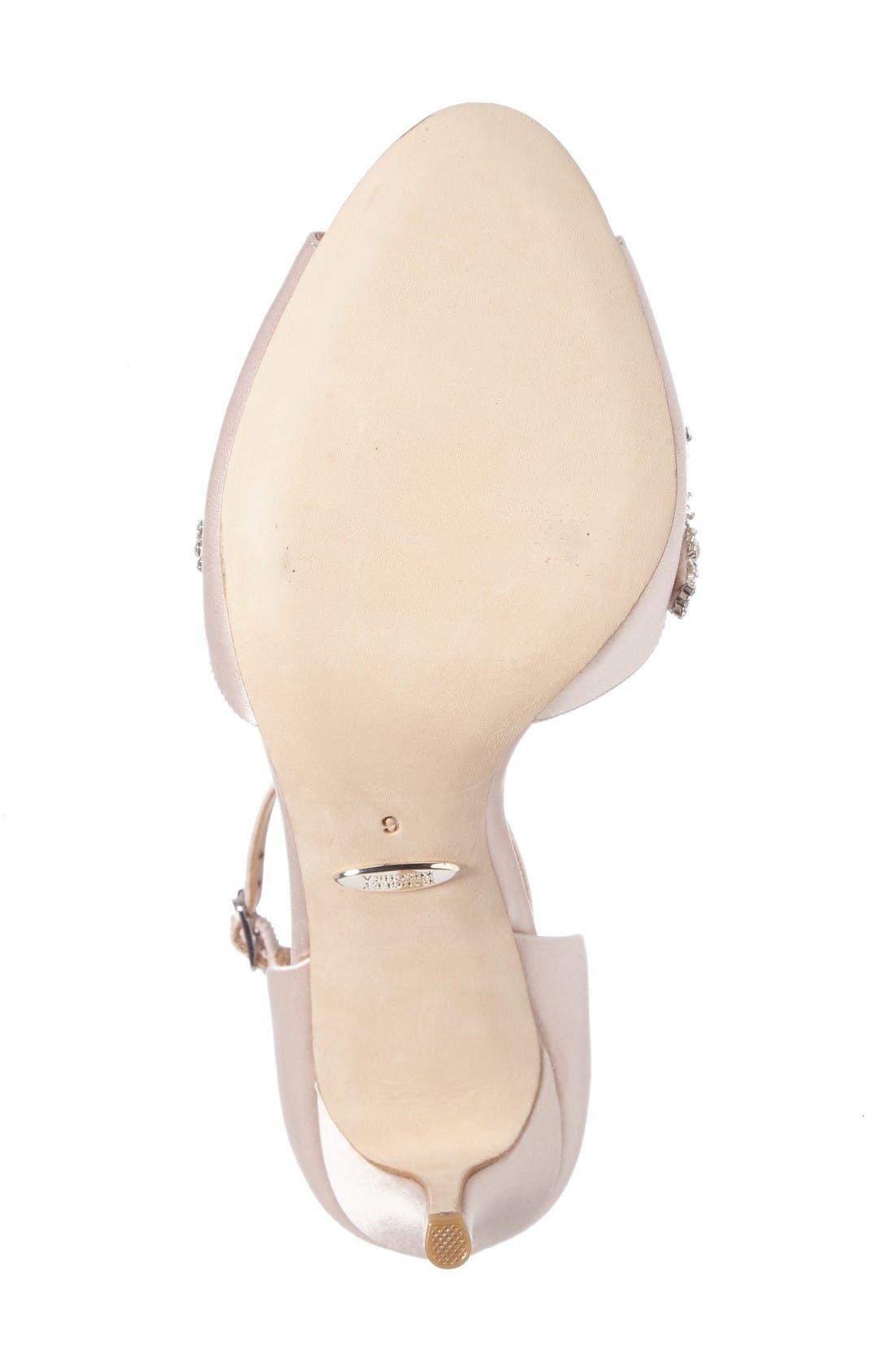 Alternate Image 4  - Badgley Mischka Barker Ankle Strap d'Orsay Pump (Women)