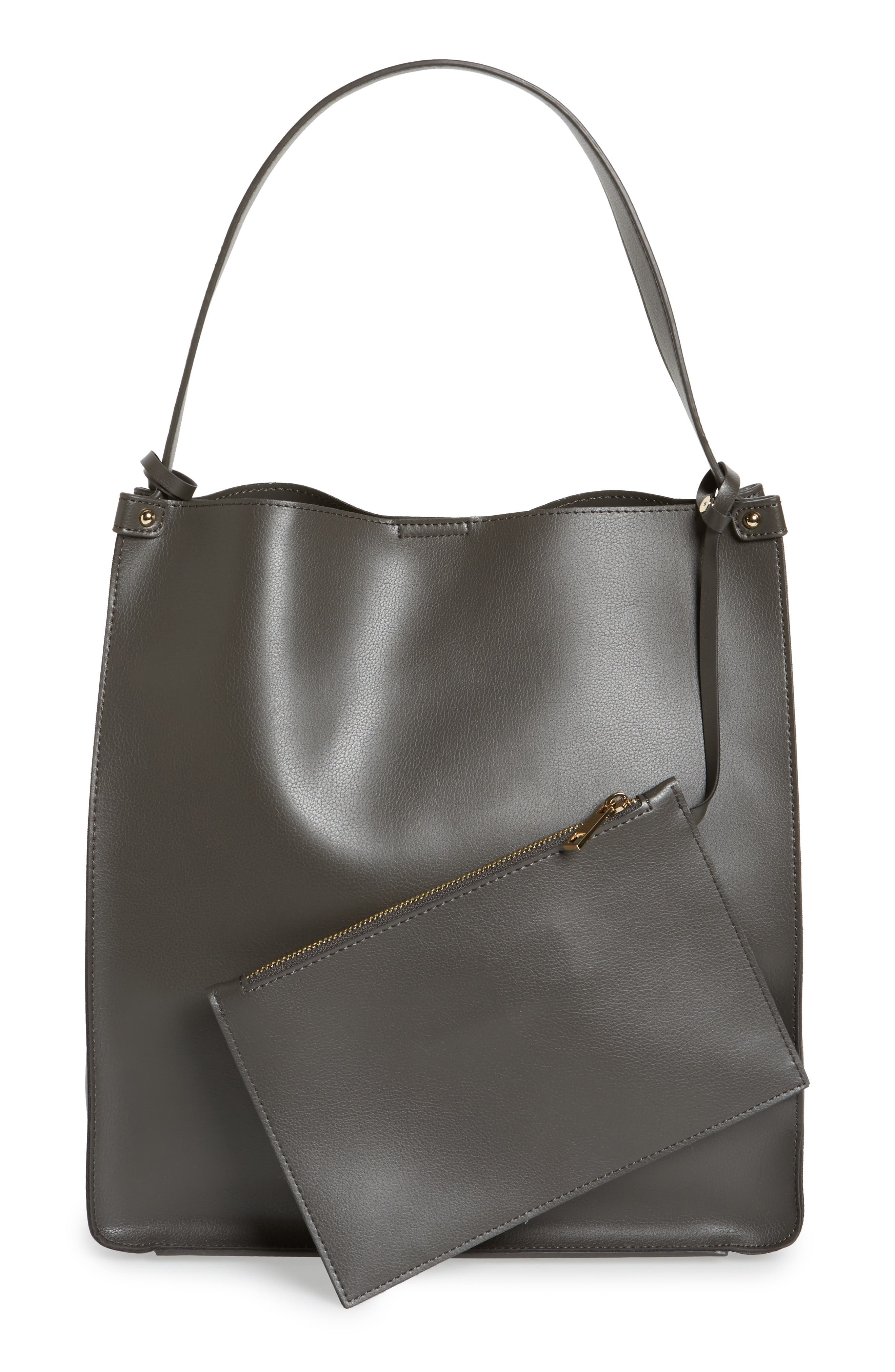 Alternate Image 3  - Sole Society Karlie Faux Leather Bucket Bag
