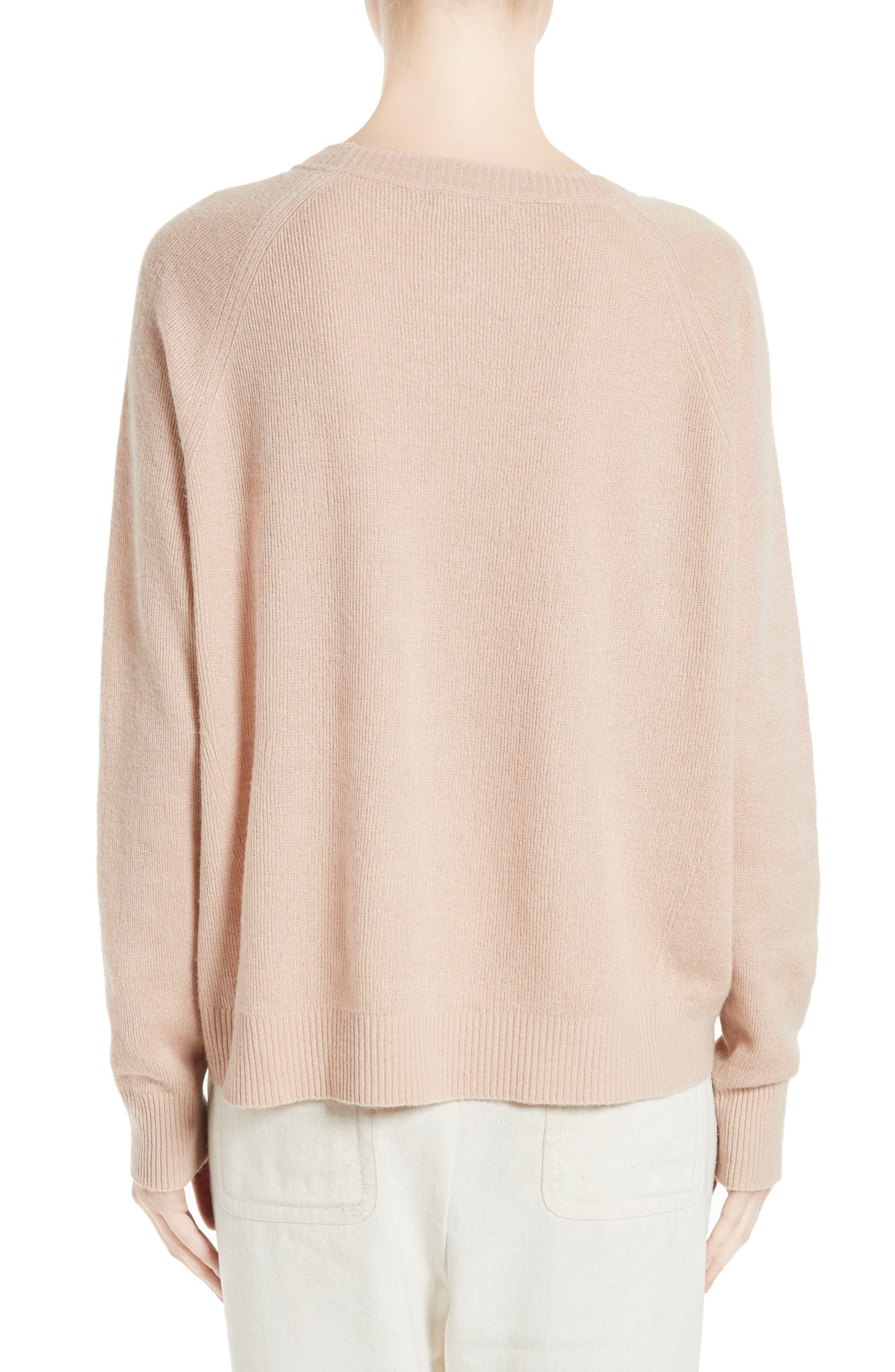 Alternate Image 2  - Vince Boxy Cashmere & Linen Pullover
