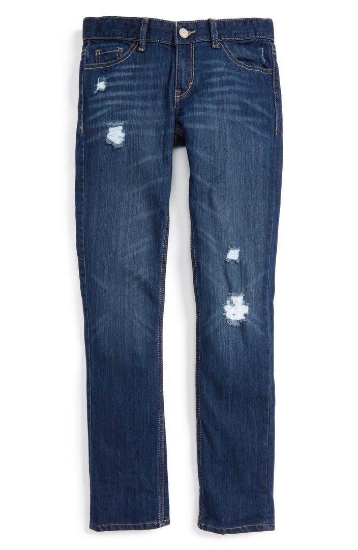 levi 39 s destroyed boyfriend jeans big girls nordstrom. Black Bedroom Furniture Sets. Home Design Ideas