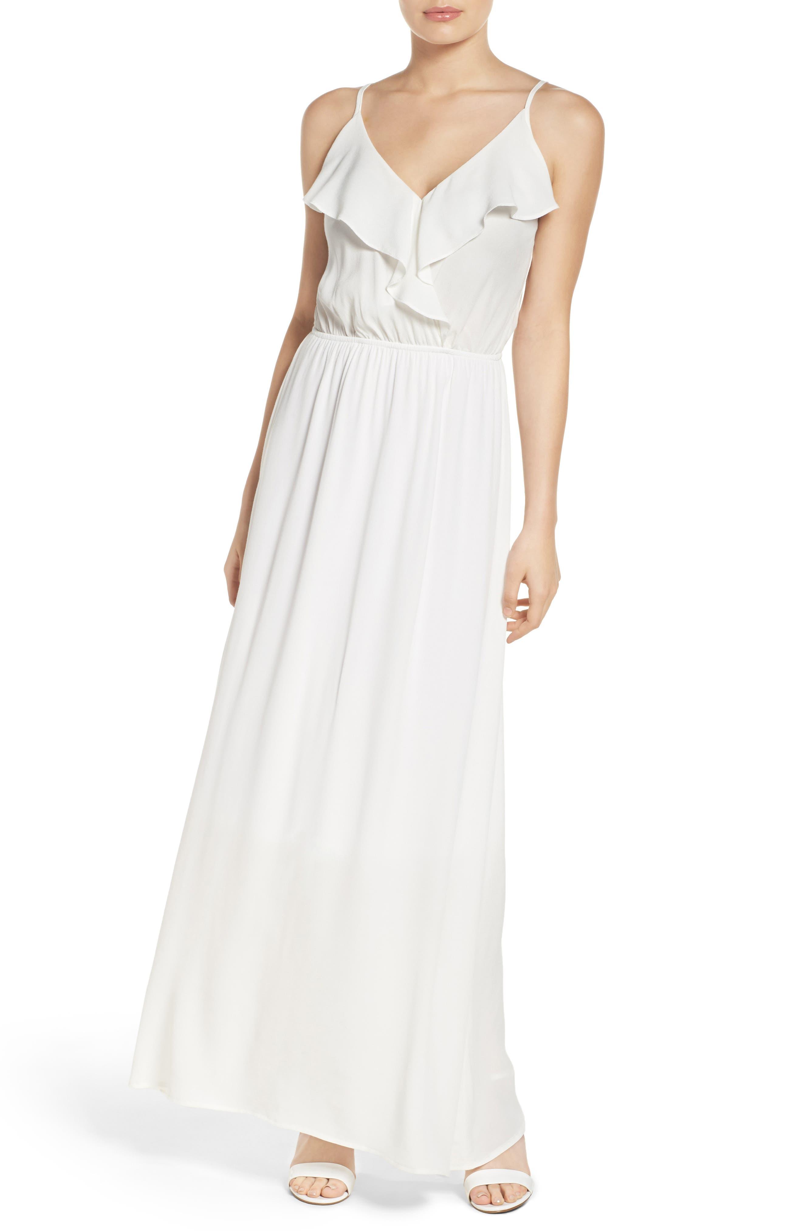 Main Image - Fraiche by J Blouson Maxi Dress