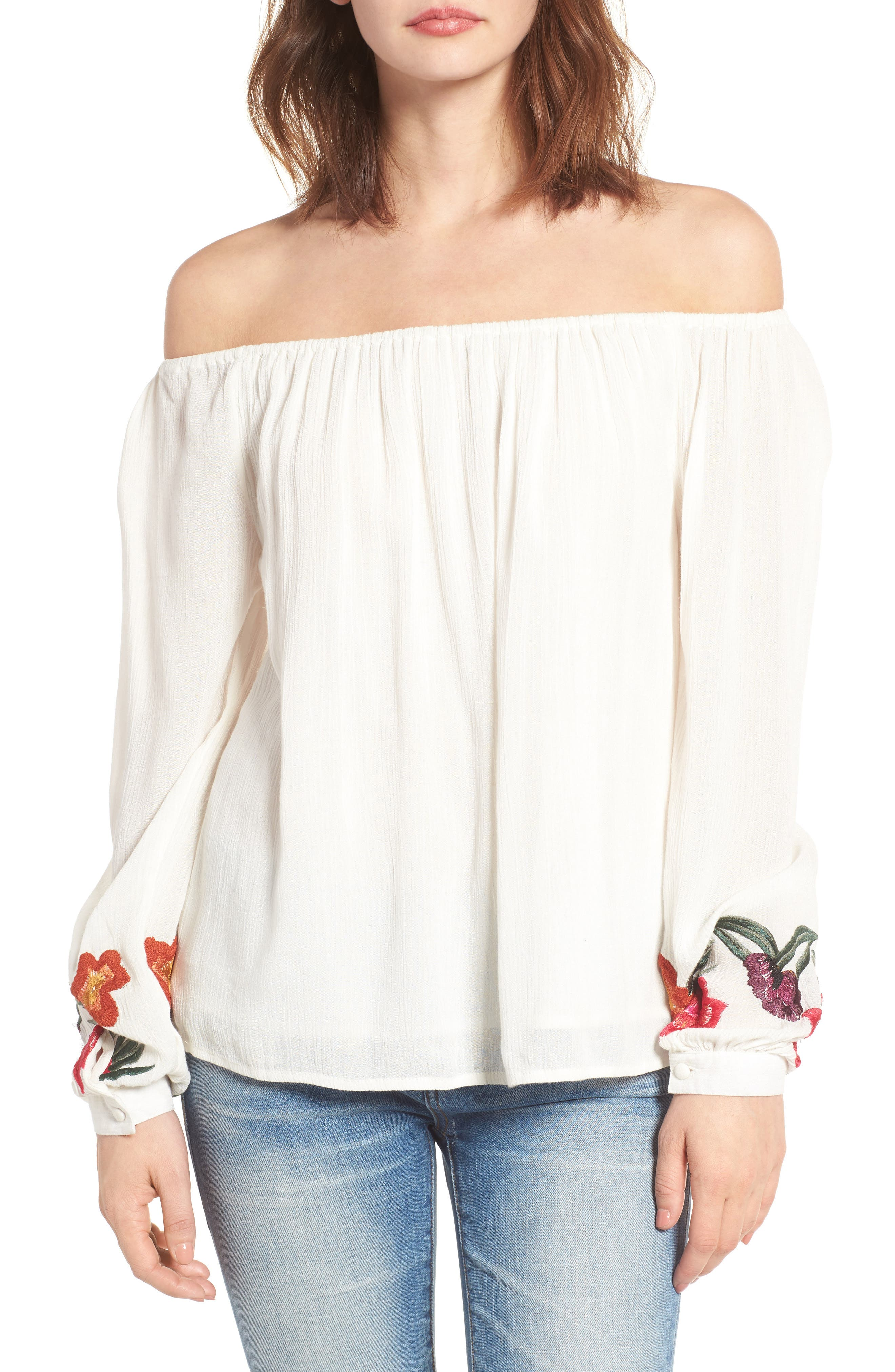 Main Image - Lovers + Friends Over the Sea Off the Shoulder Blouse