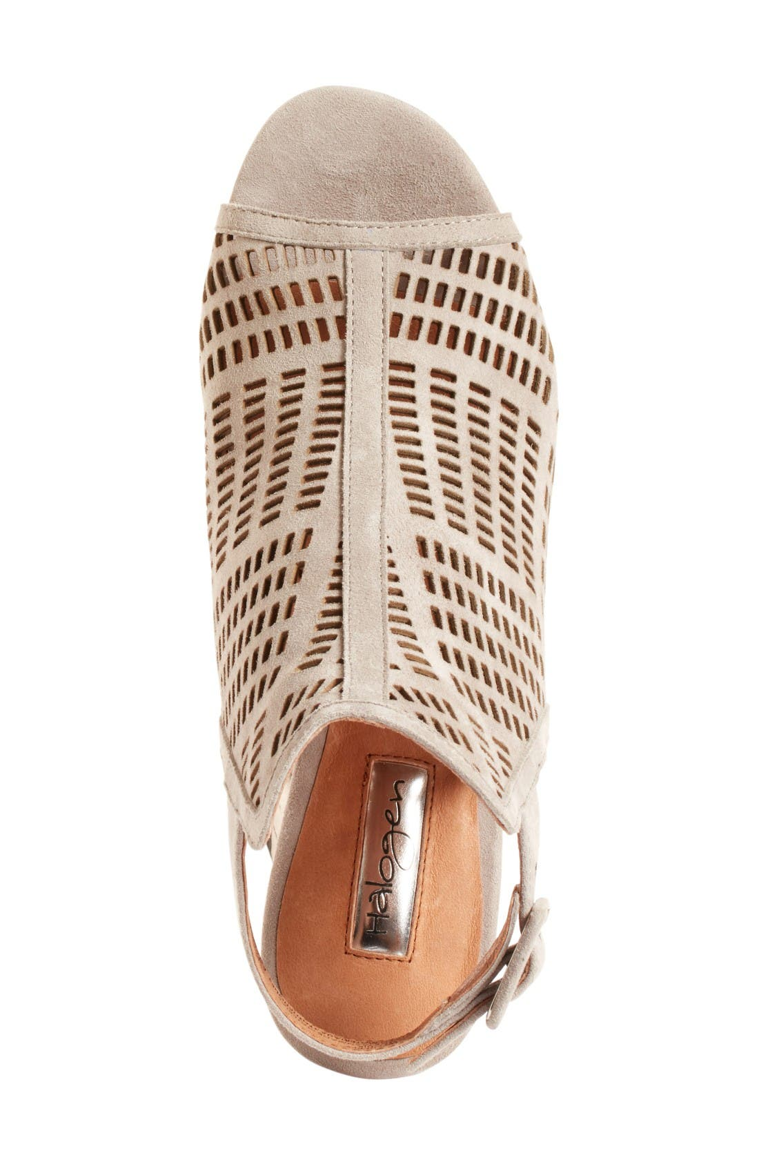 Alternate Image 3  - Halogen® Rosina Laser Cut Wedge Sandal (Women)