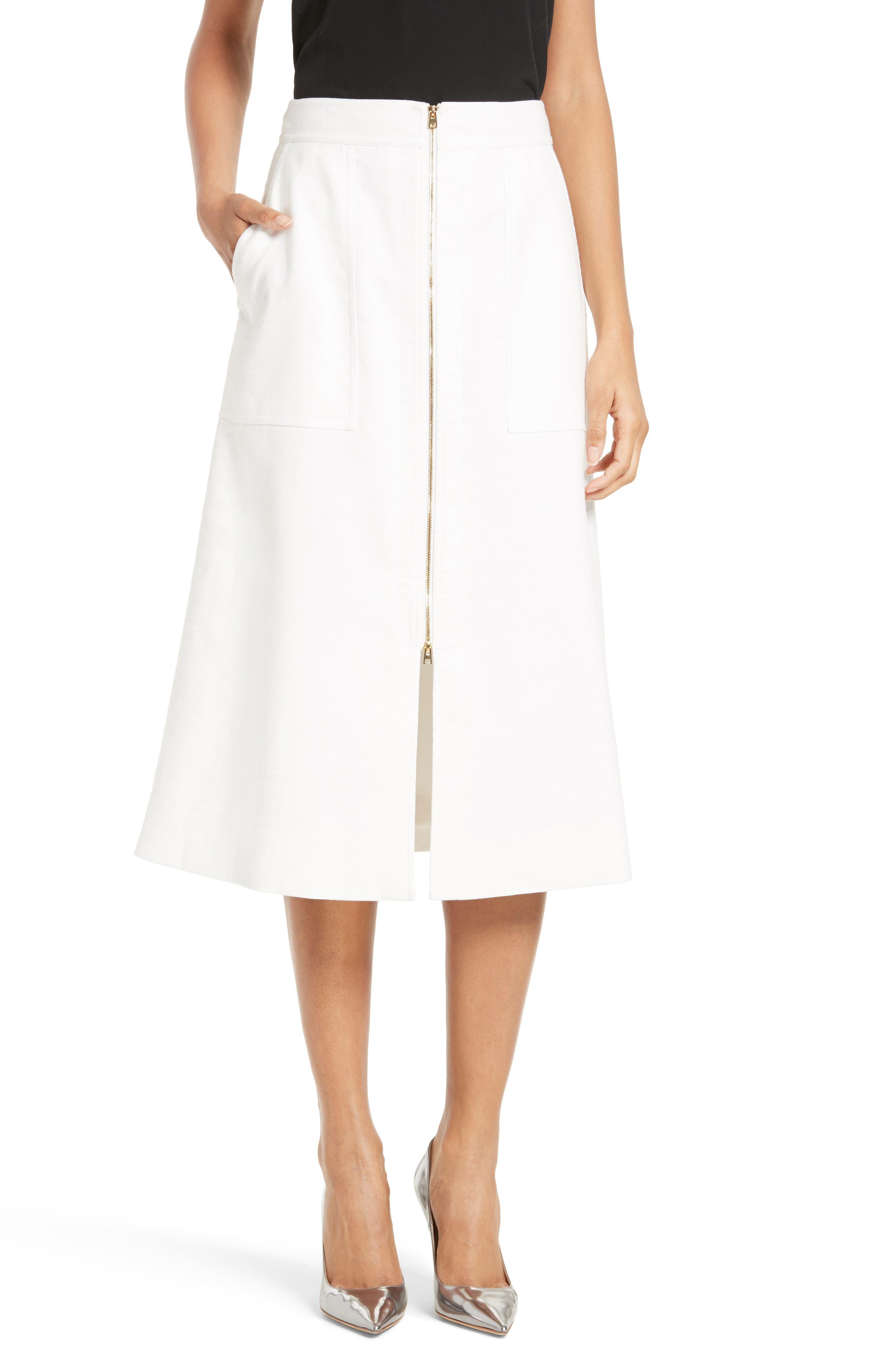 Diane von Fursternberg A-Line Midi Skirt