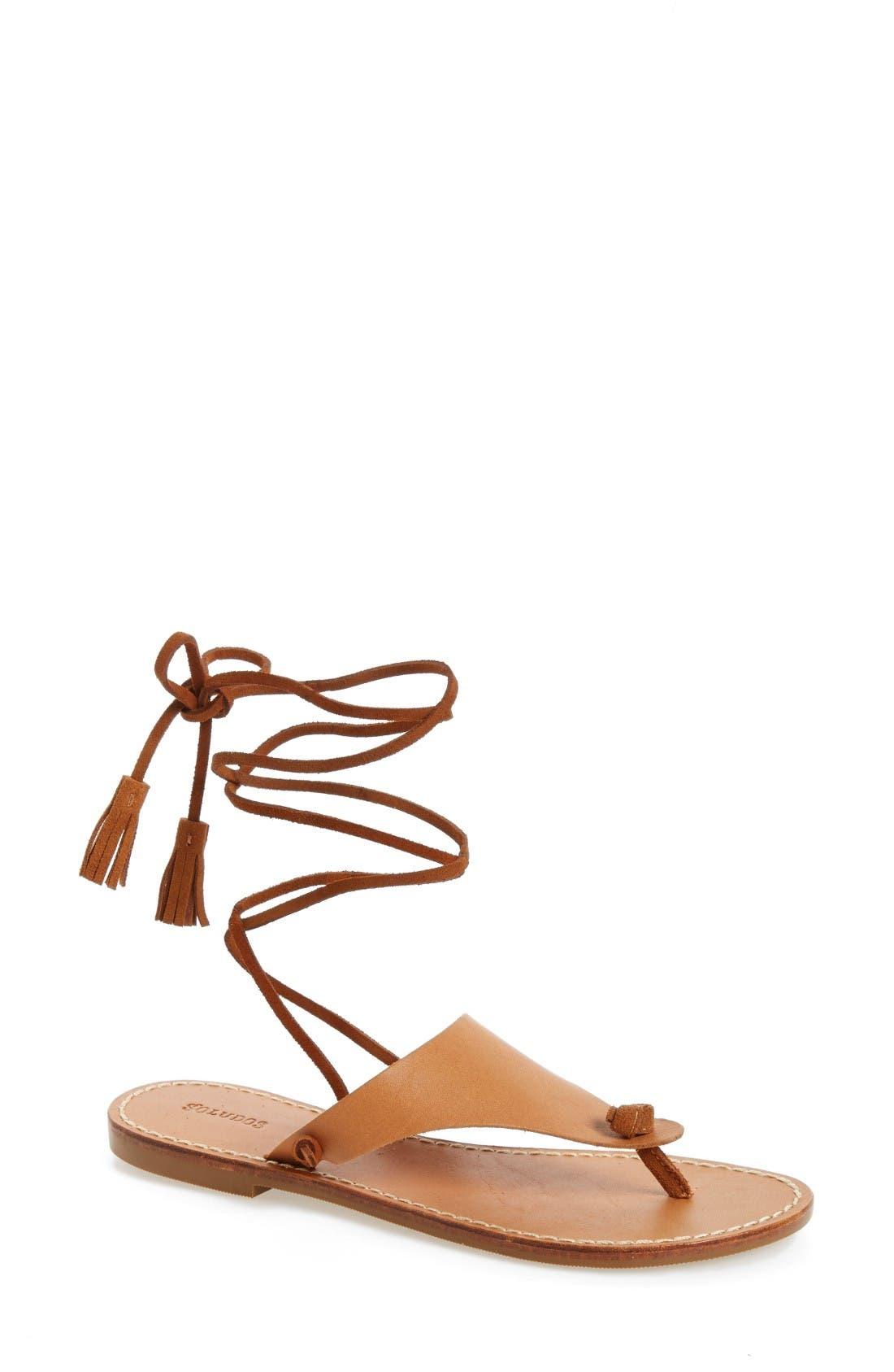 SOLUDOS Wraparound Flat Sandal