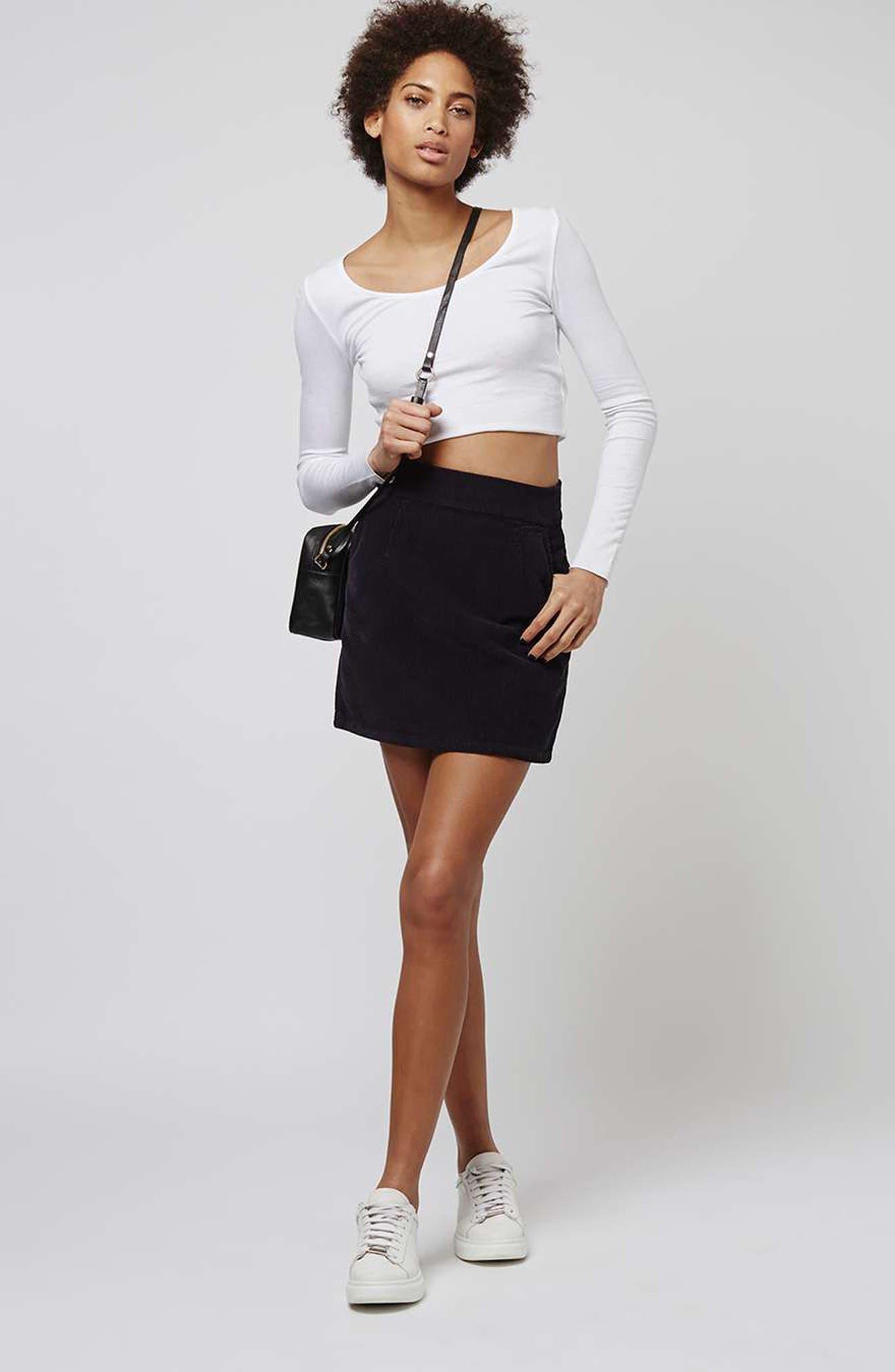 Alternate Image 2  - Topshop Corduroy Miniskirt