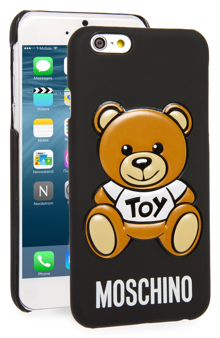 moschino bear iphone 6 6s case nordstrom. Black Bedroom Furniture Sets. Home Design Ideas