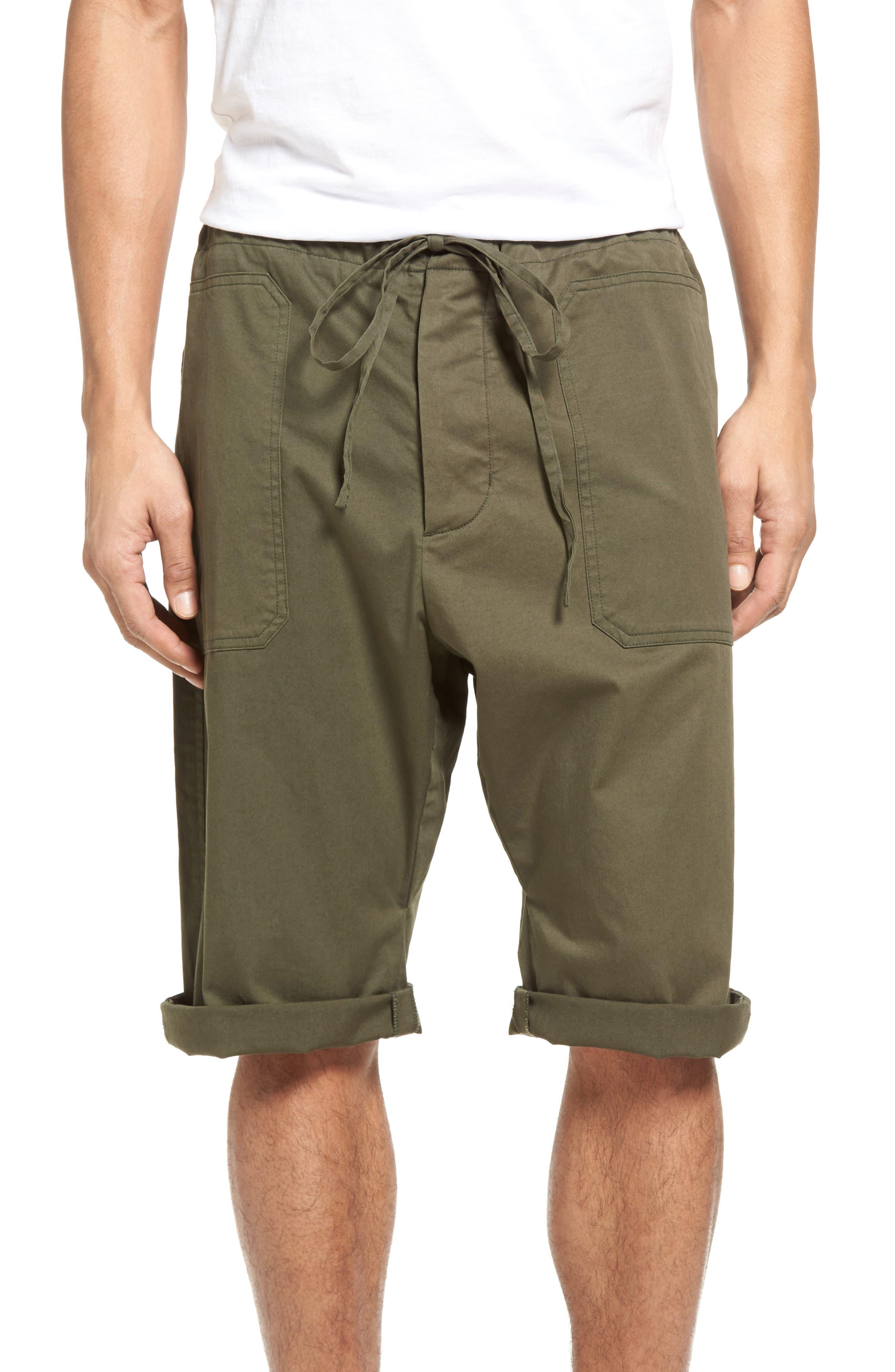 Vince Stretch Woven Drawstring Shorts
