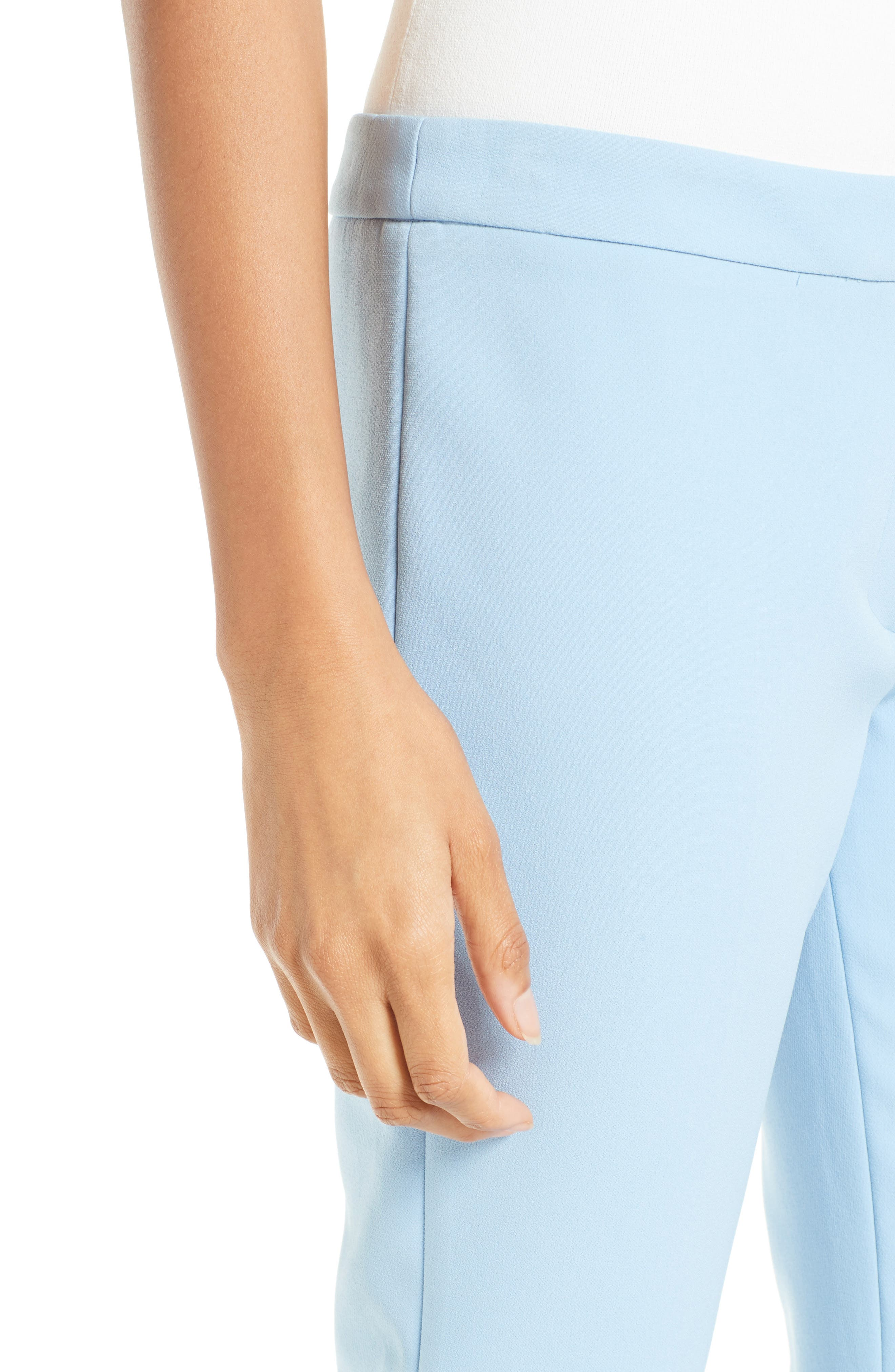 Alternate Image 5  - Milly Stretch Crepe Cigarette Pant