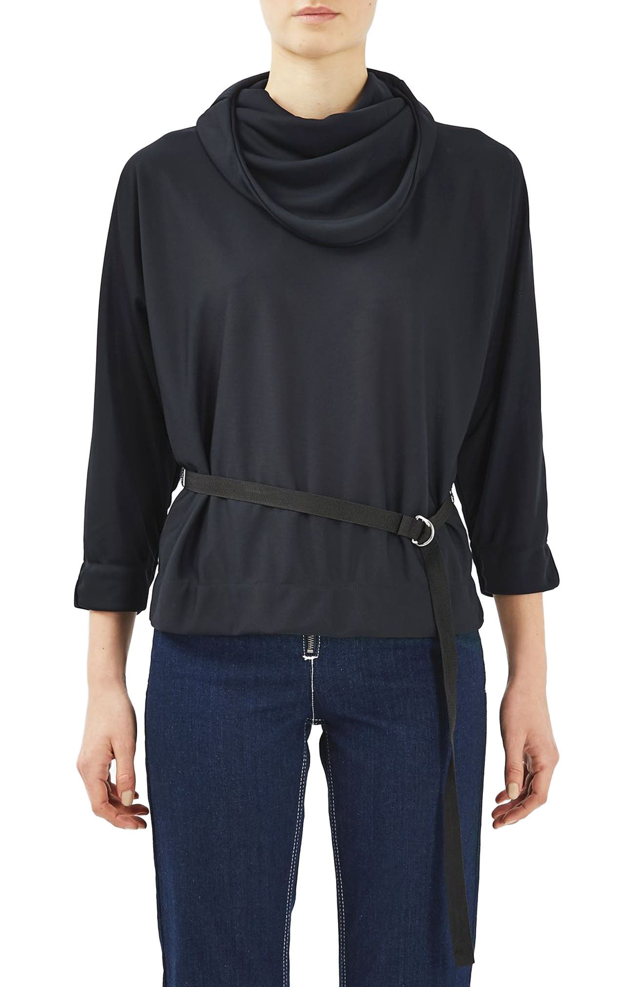 TOPSHOP BOUTIQUE Belted Top