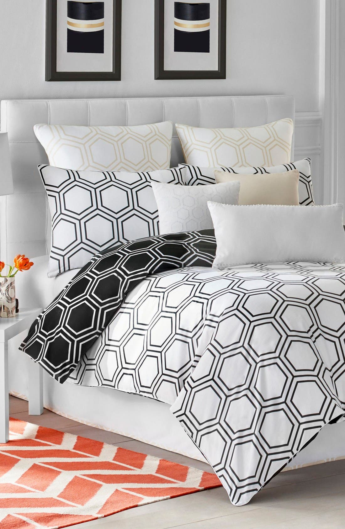 Jill Rosenwald Blackpoint Hex Bedding Collection