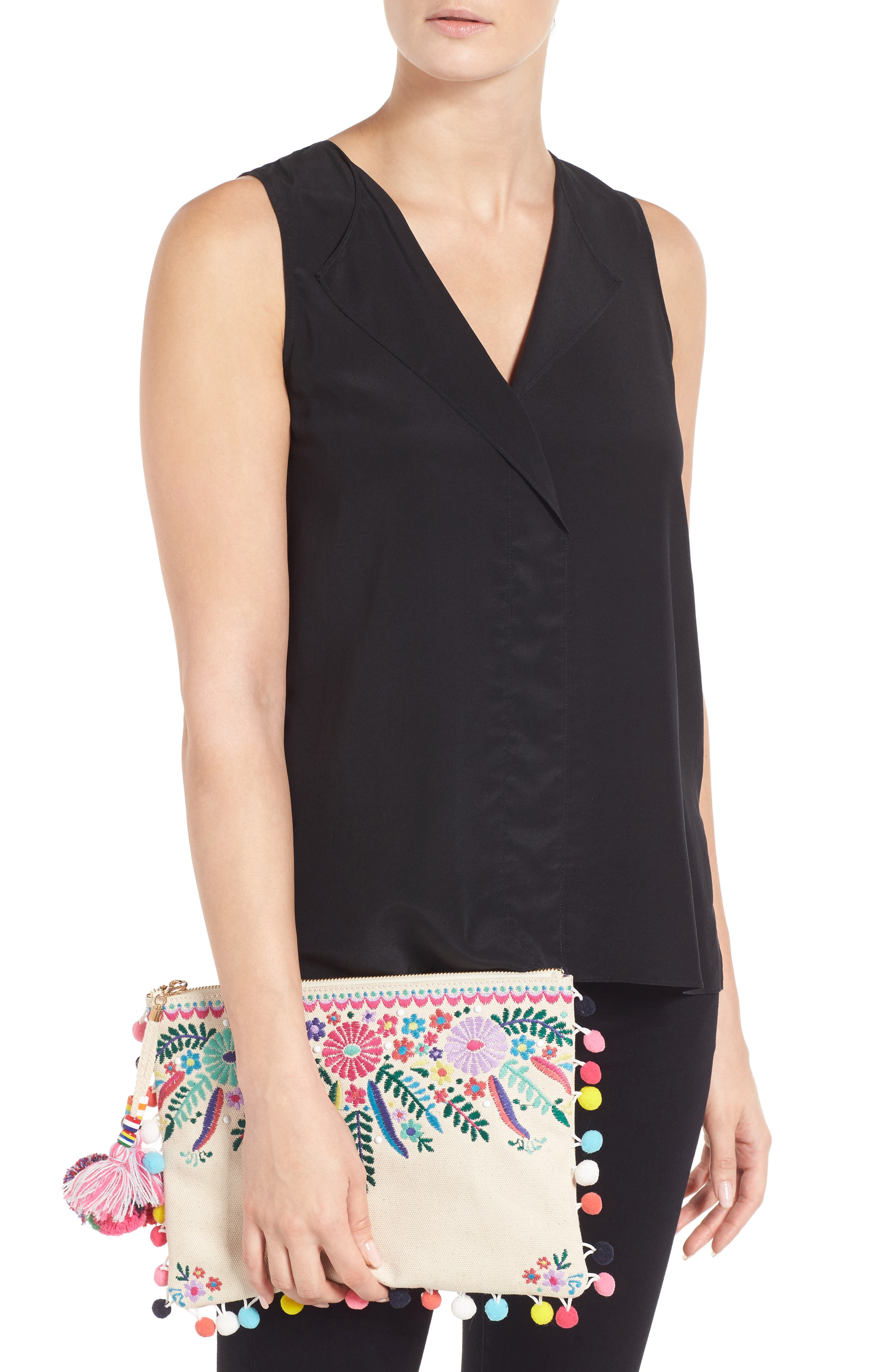 Alternate Image 2  - Steven by Steve Madden Embroidered Clutch