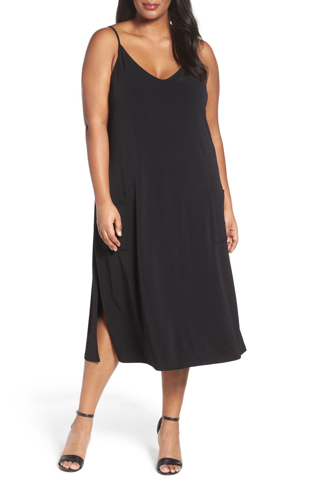 Sejour A-Line Jersey Dress (Plus Size)