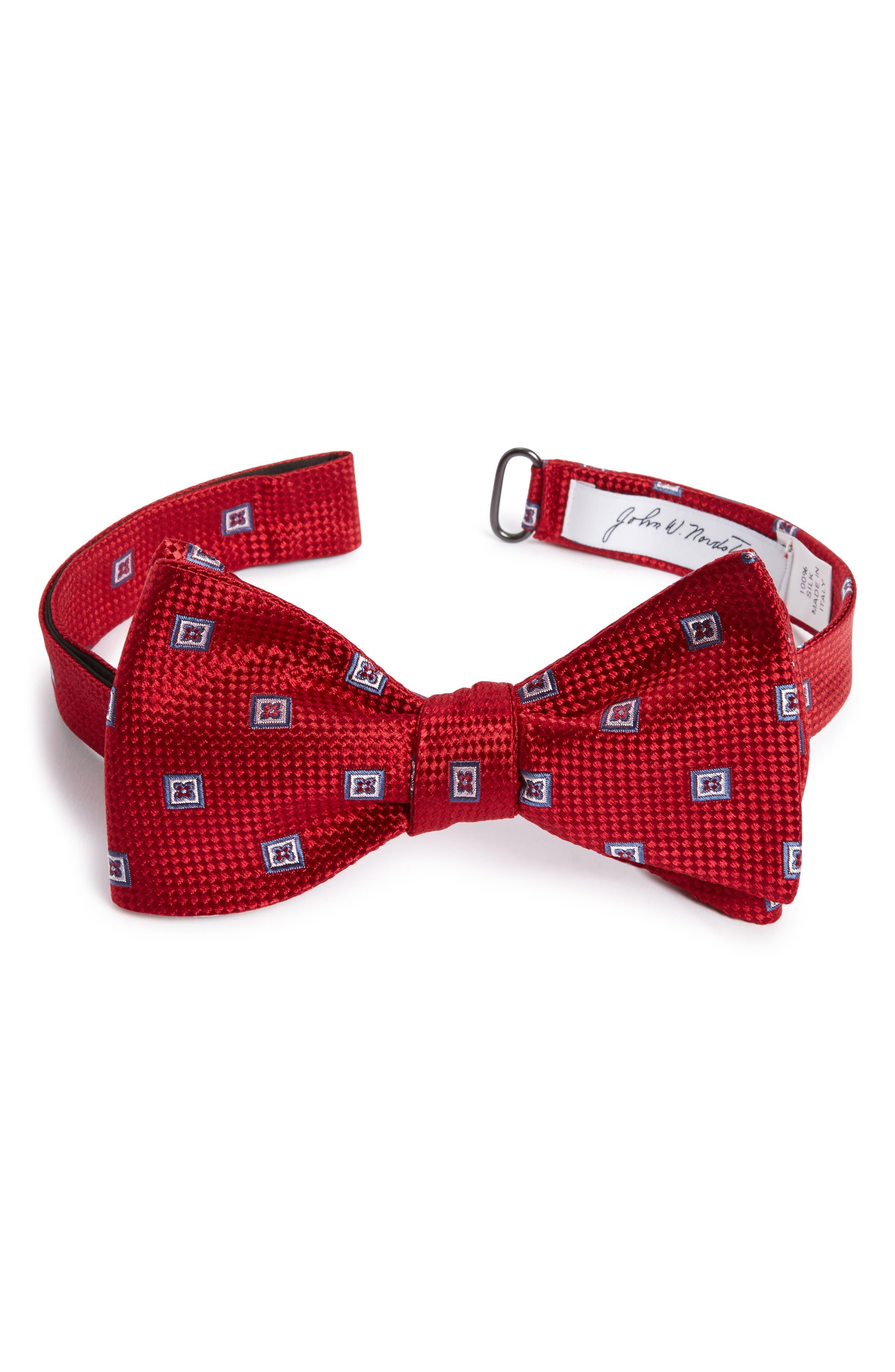 John W. Nordstrom® Shane Check Silk Bow Tie