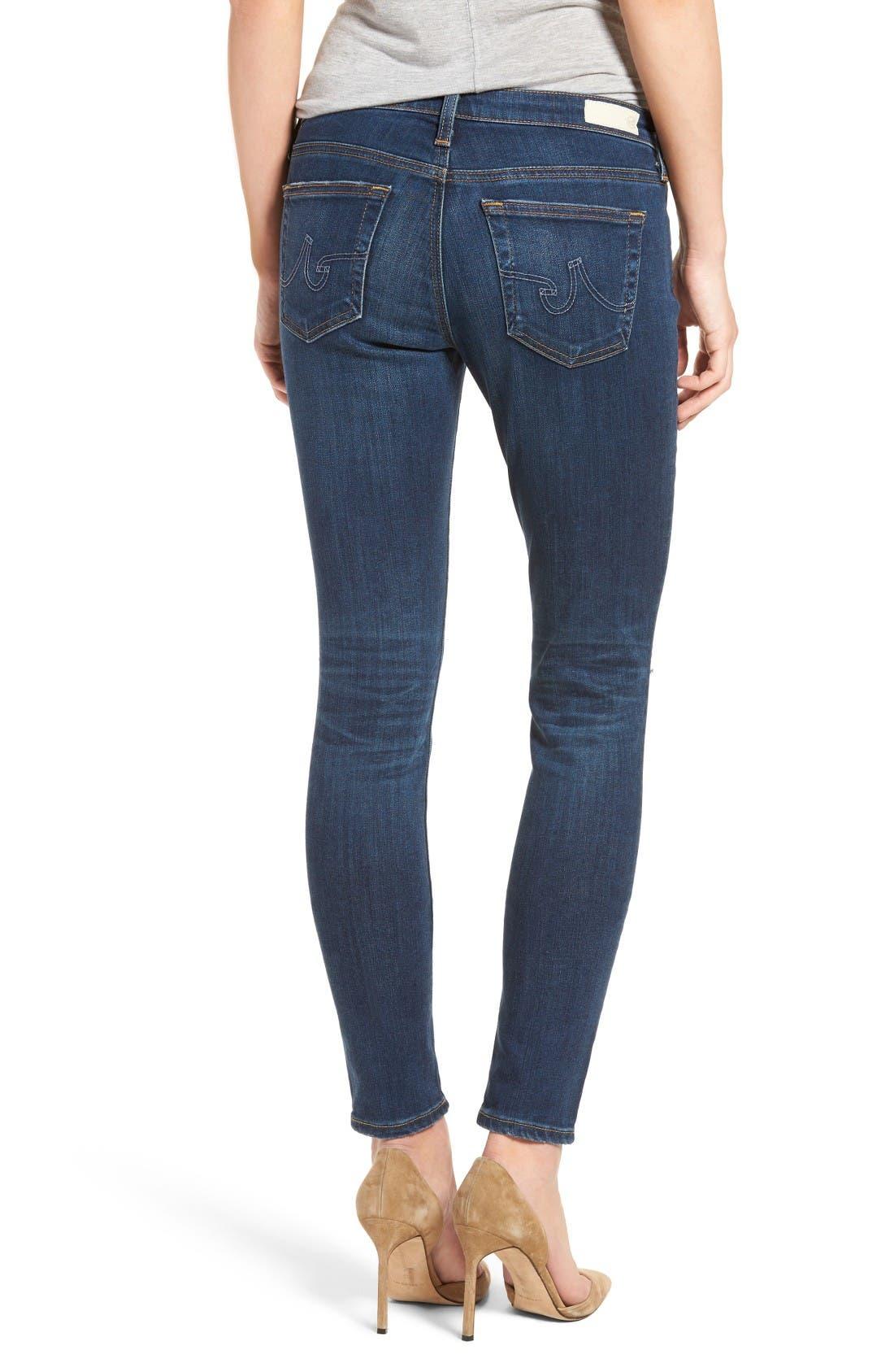 Alternate Image 2  - AG The Legging Super Skinny Jeans (8 Years Wander)