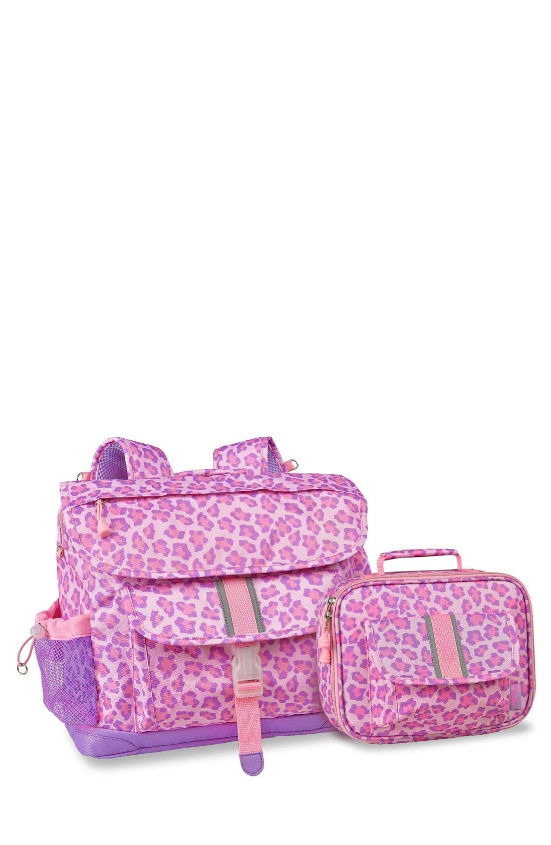 BIXBEE 'Sassy Spots' Leopard Print Backpack & Lunchbox