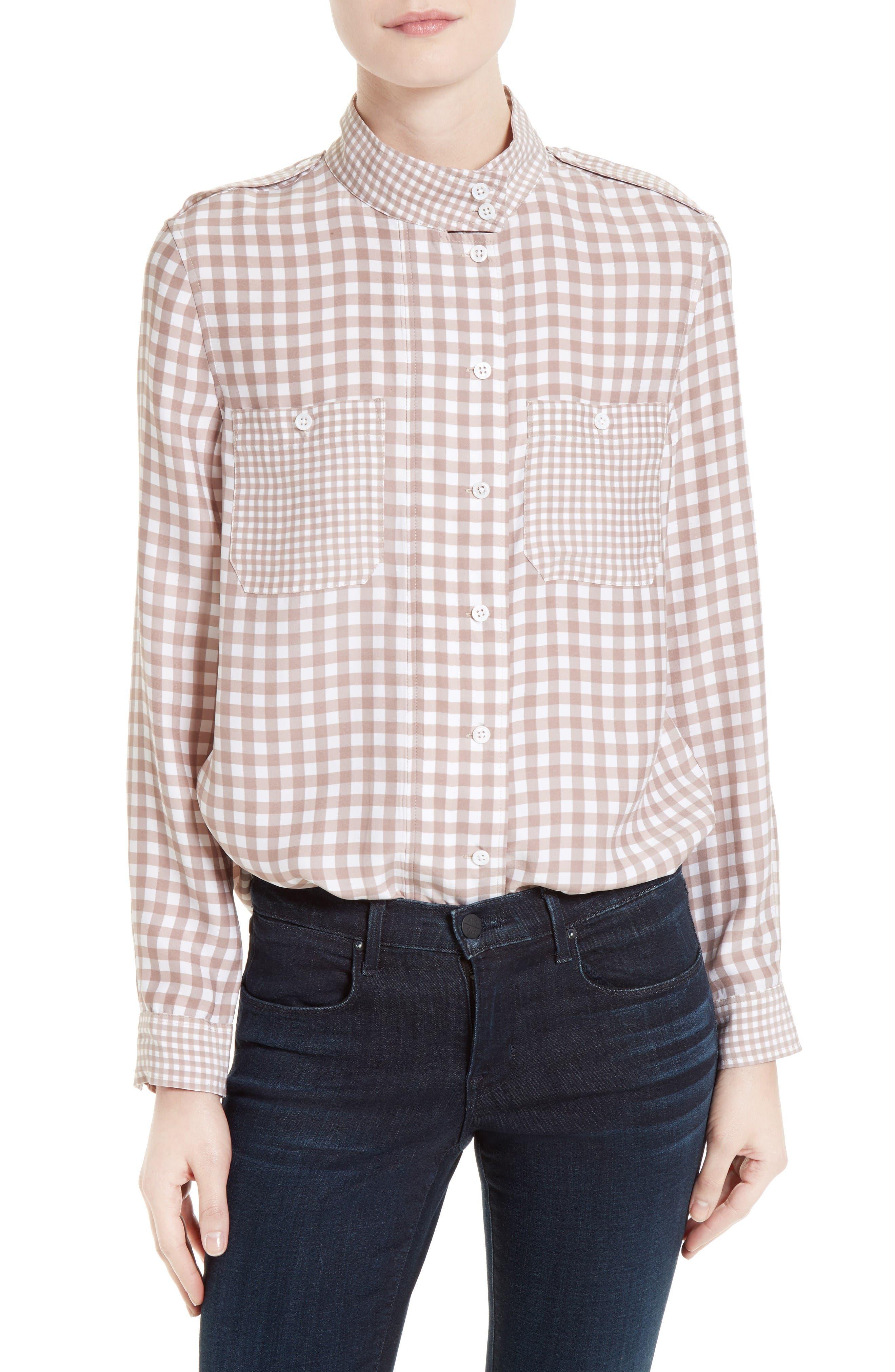 Main Image - Equipment Alma Gingham Silk Shirt