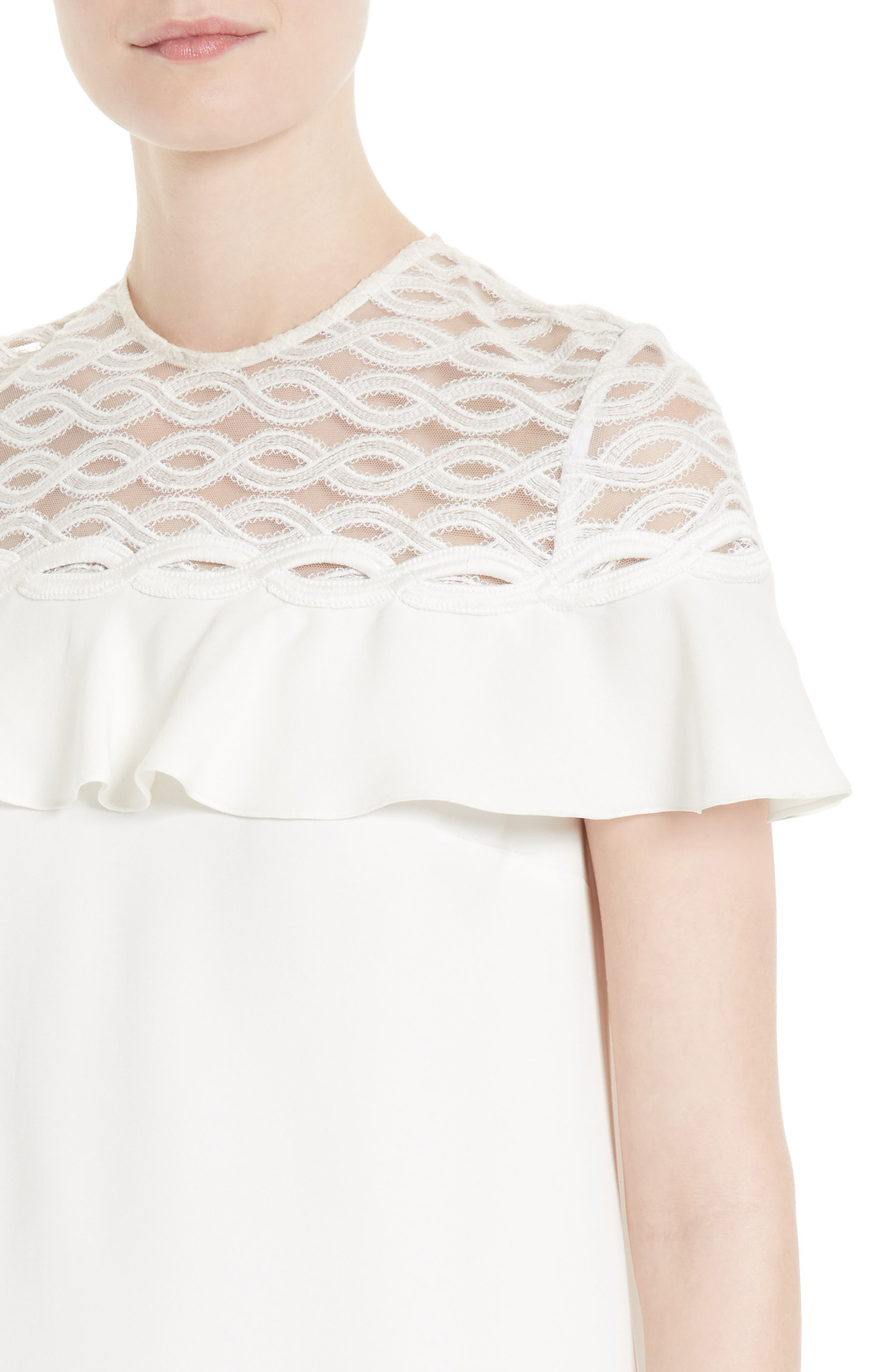 Alternate Image 4  - Jonathan Simkhai Rope Appliqué Ruffle Dress