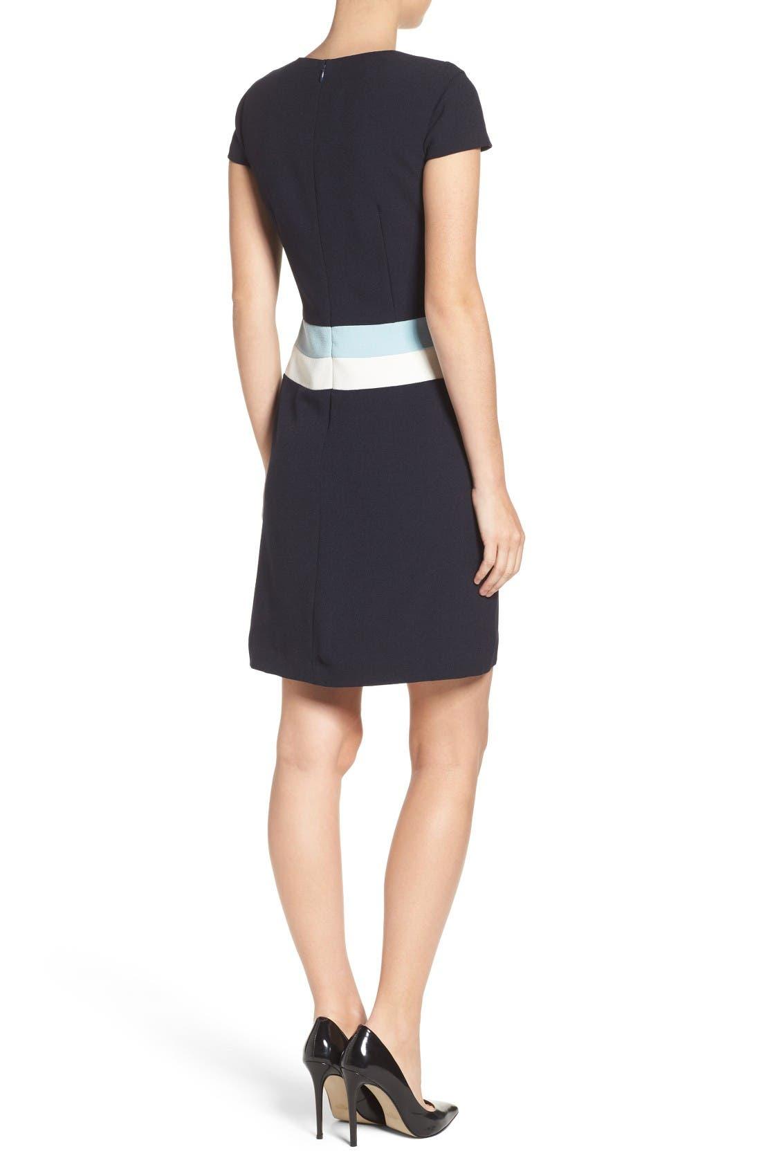 Alternate Image 2  - Vince Camuto Colorblock Shift Dress (Regular & Petite)