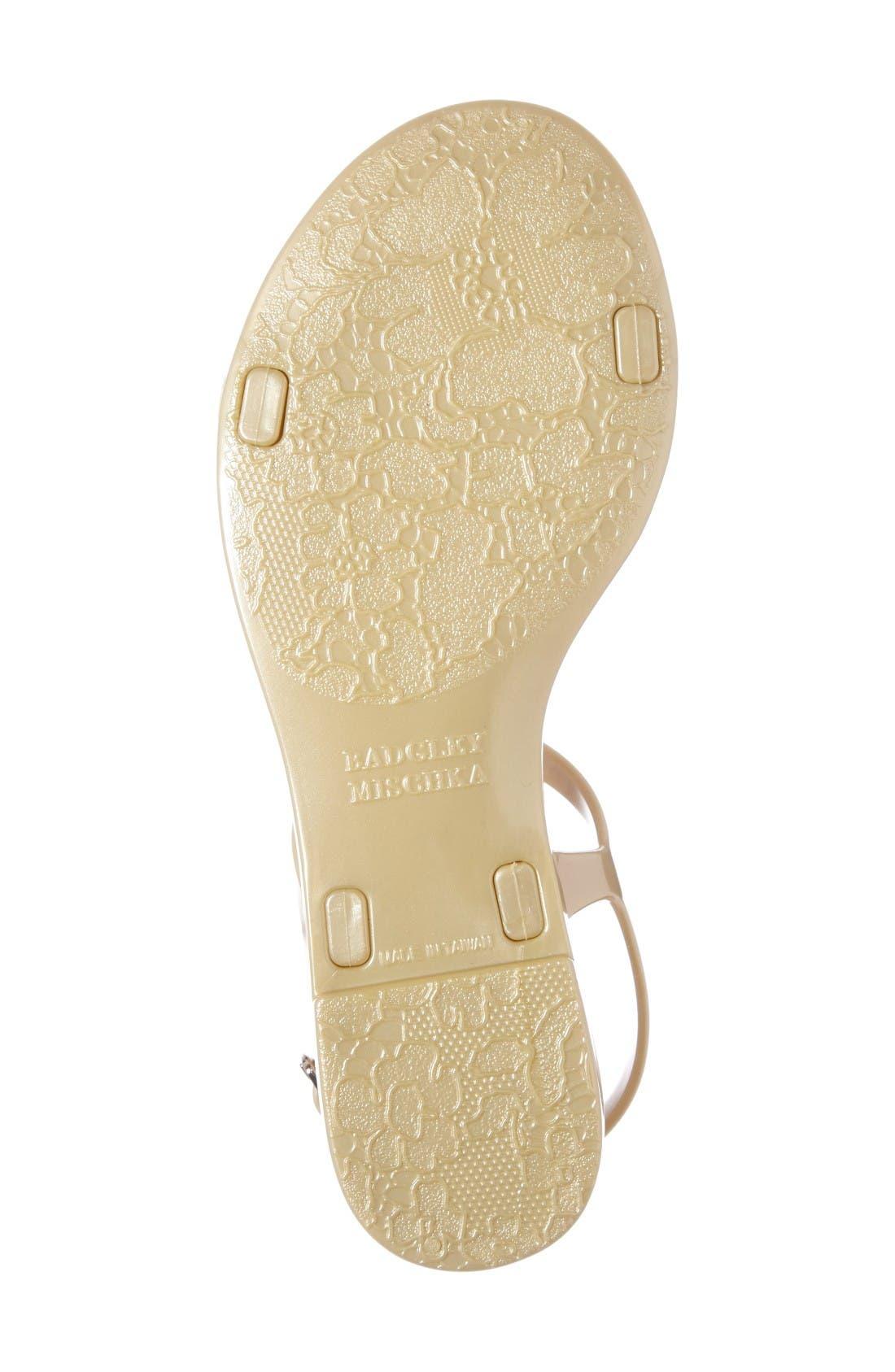 Alternate Image 4  - Badgley Mischka Belize Crystal Embellished Flat Sandal (Women)