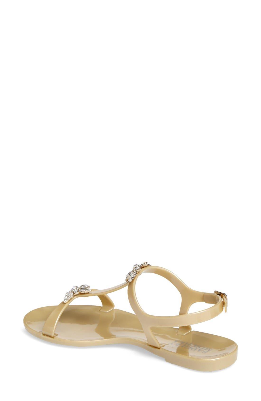 Alternate Image 2  - Badgley Mischka Belize Crystal Embellished Flat Sandal (Women)