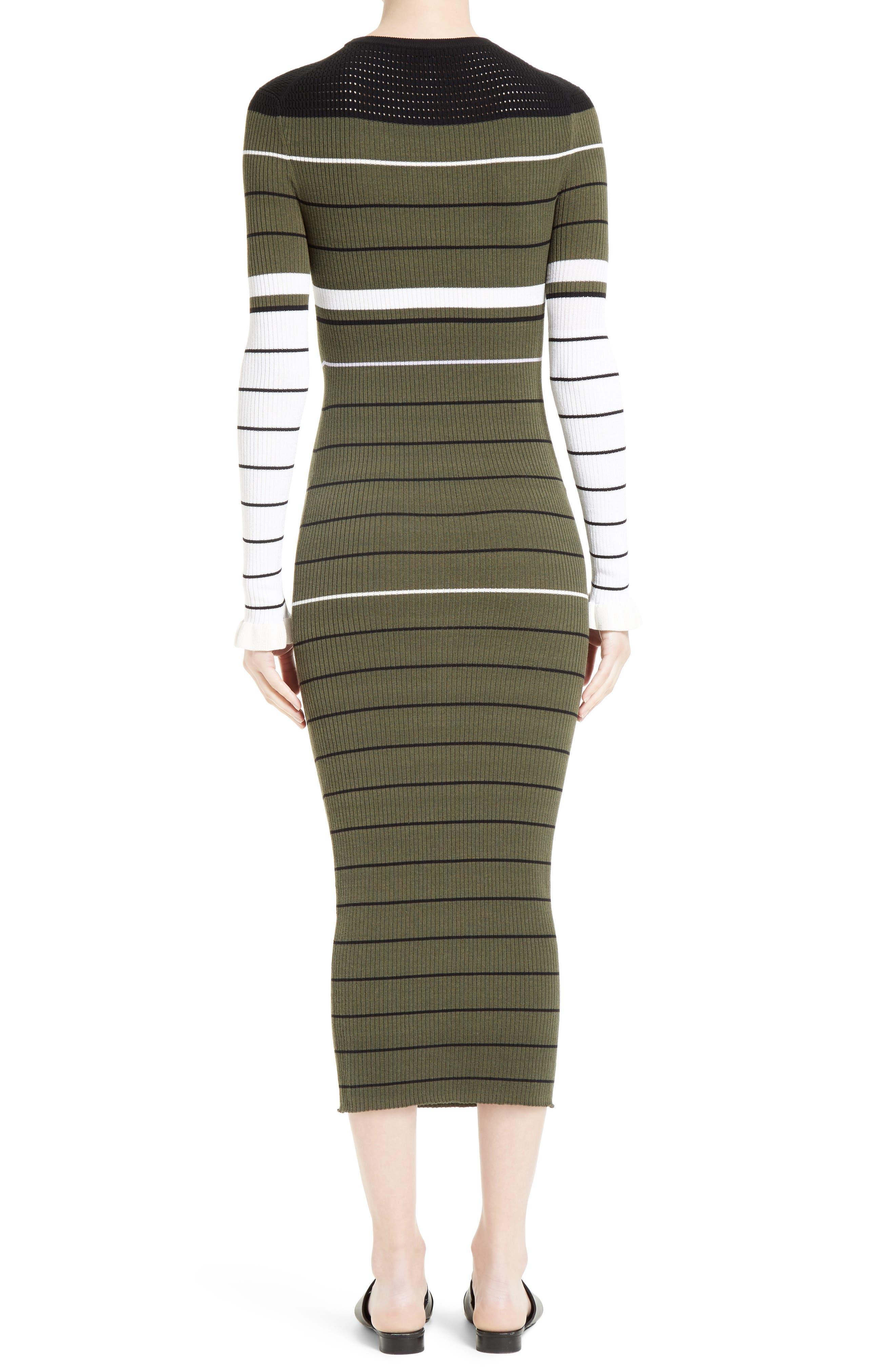 Alternate Image 2  - Opening Ceremony Stripe Rib Knit Dress