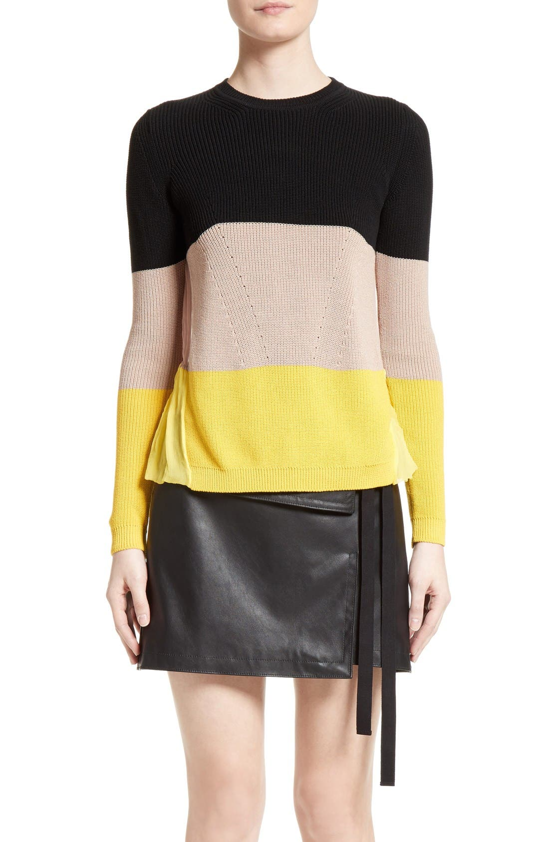 N°21 Stripe Cotton & Silk Sweater