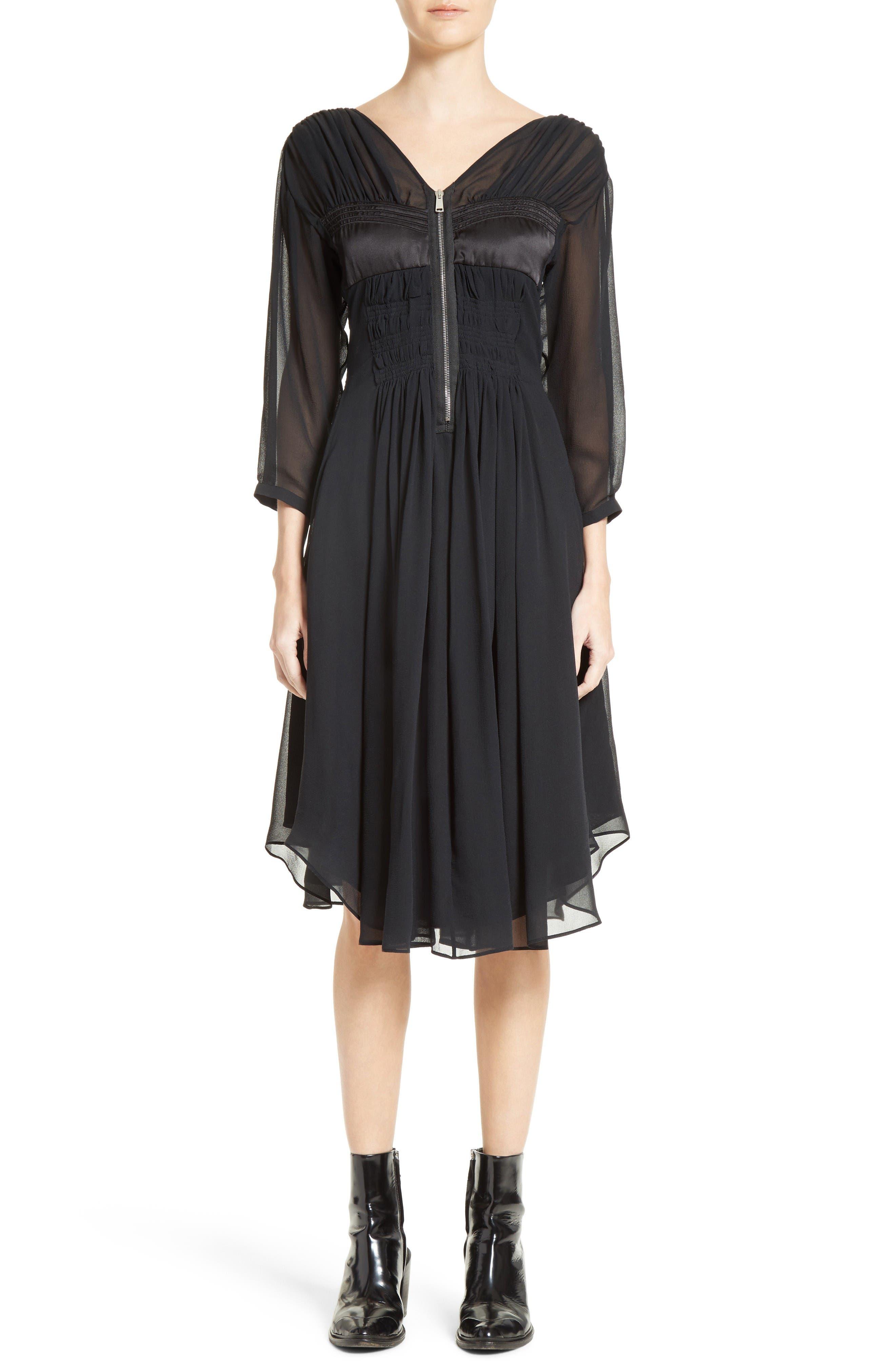 BELSTAFF Herriot Ruched Silk Georgette Dress