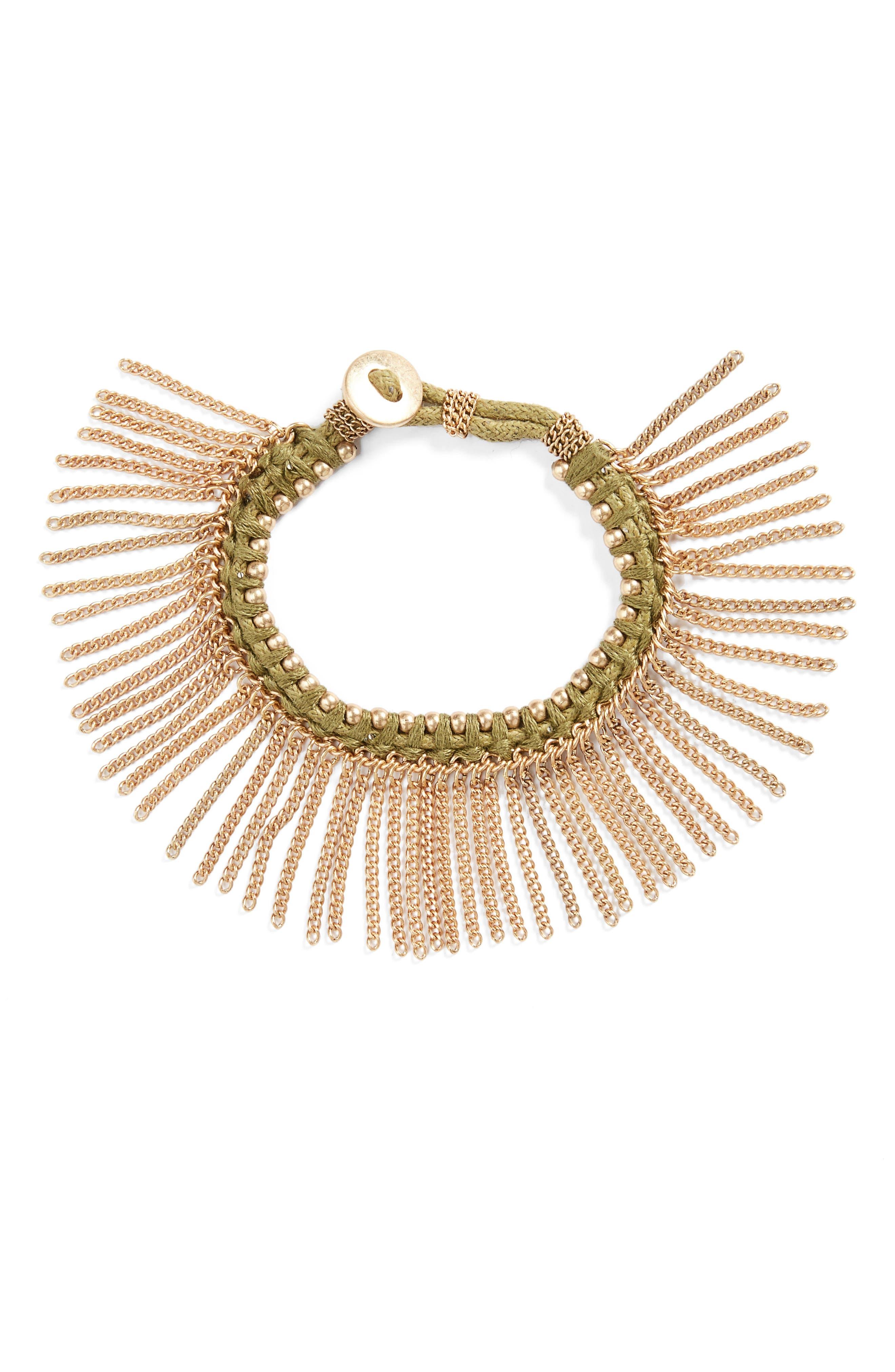 Alternate Image 1 Selected - Treasure&Bond Fringe Bracelet