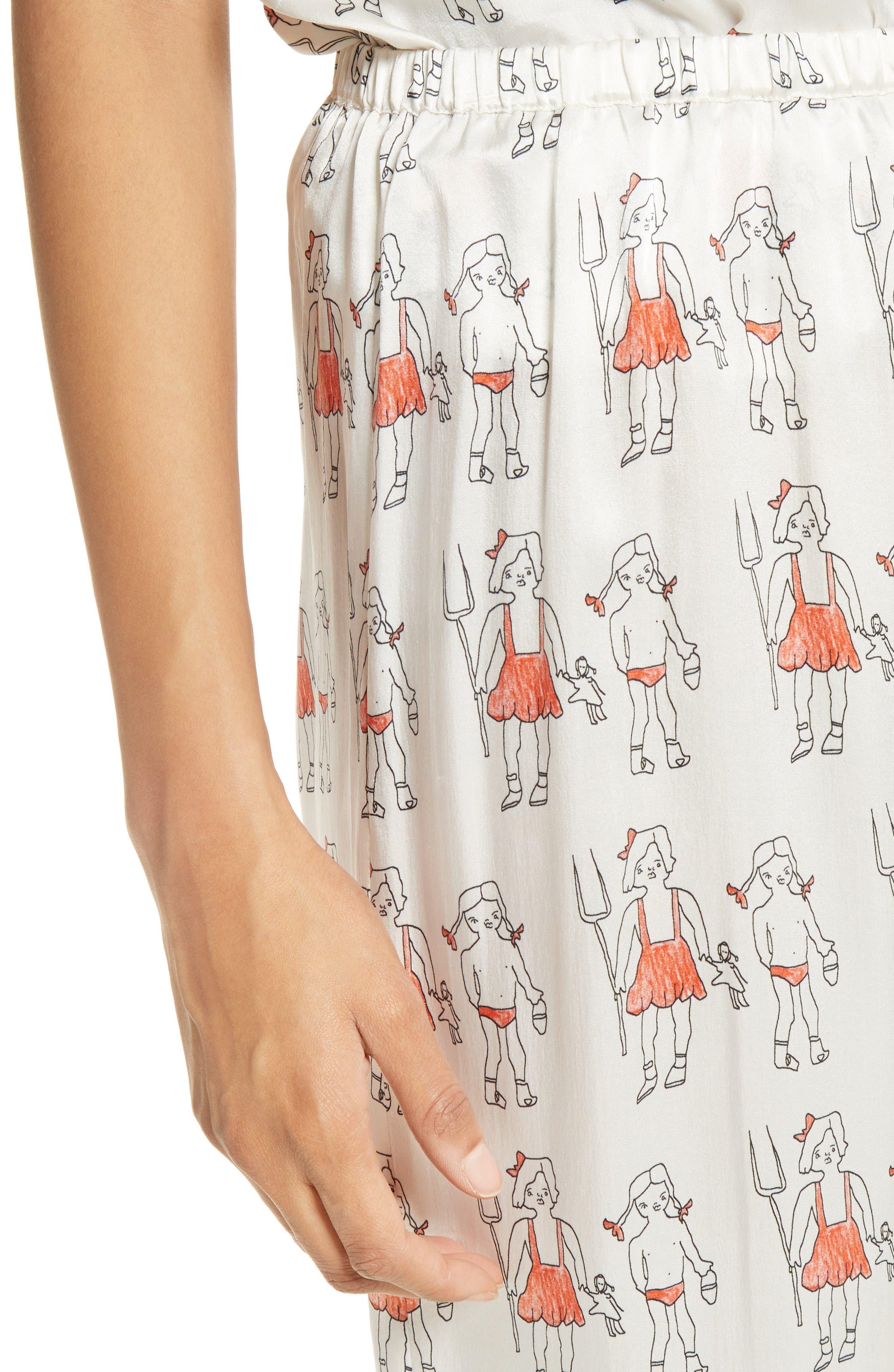 Alternate Image 6  - Shrimps Dagobert Silk Pajama Pants