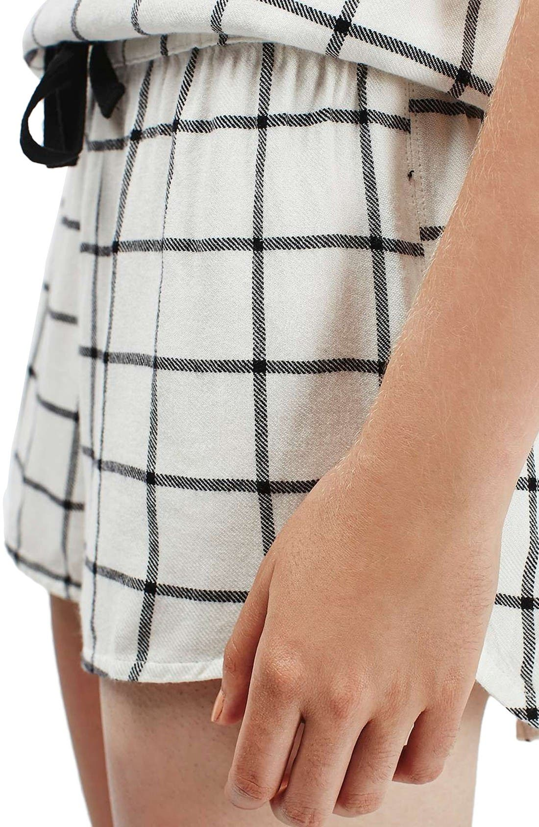 Alternate Image 5  - Topshop Windowpane Check Pajama Shorts