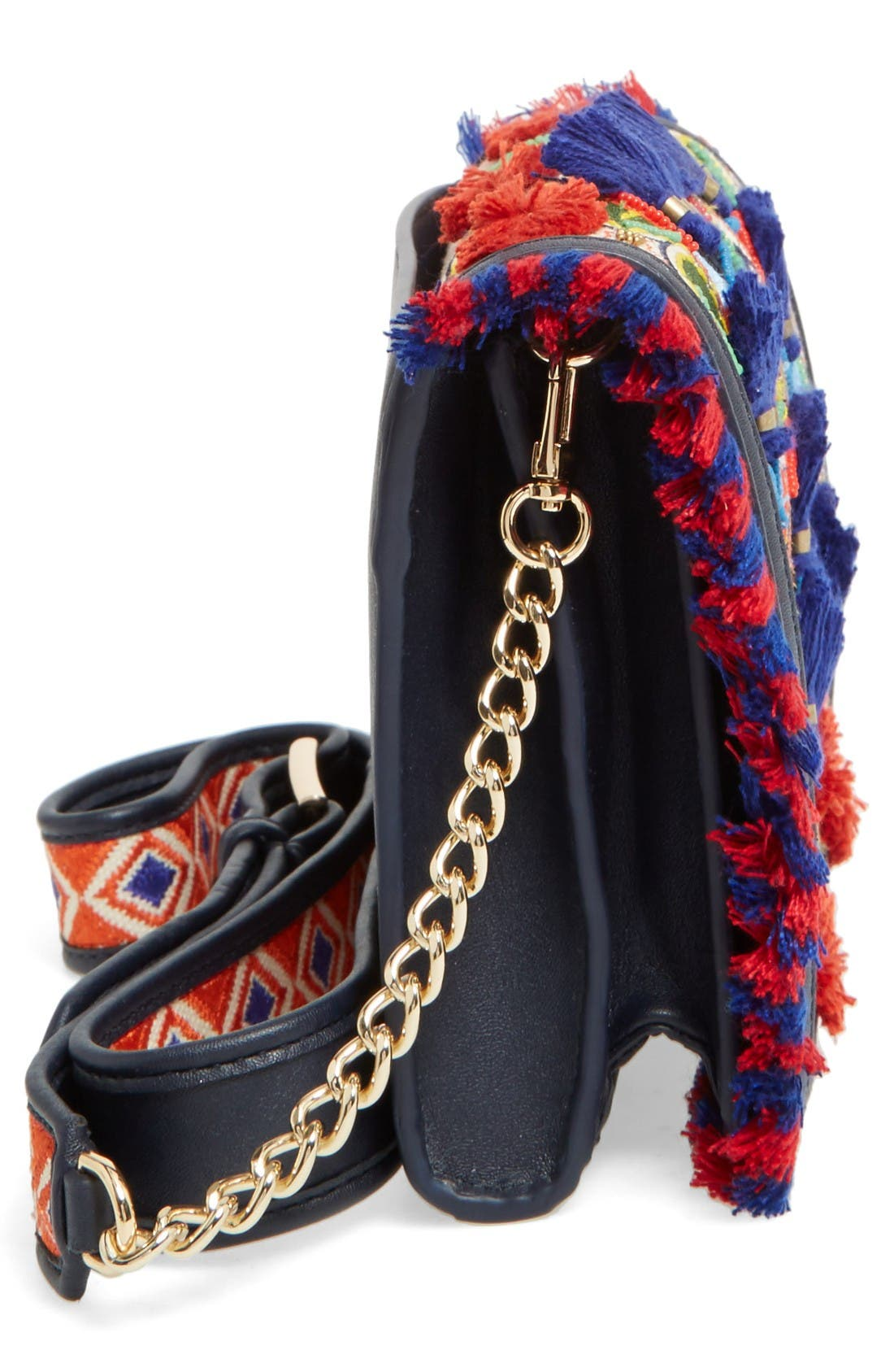 Alternate Image 4  - Tory Burch Embroidered Floral Crossbody Bag
