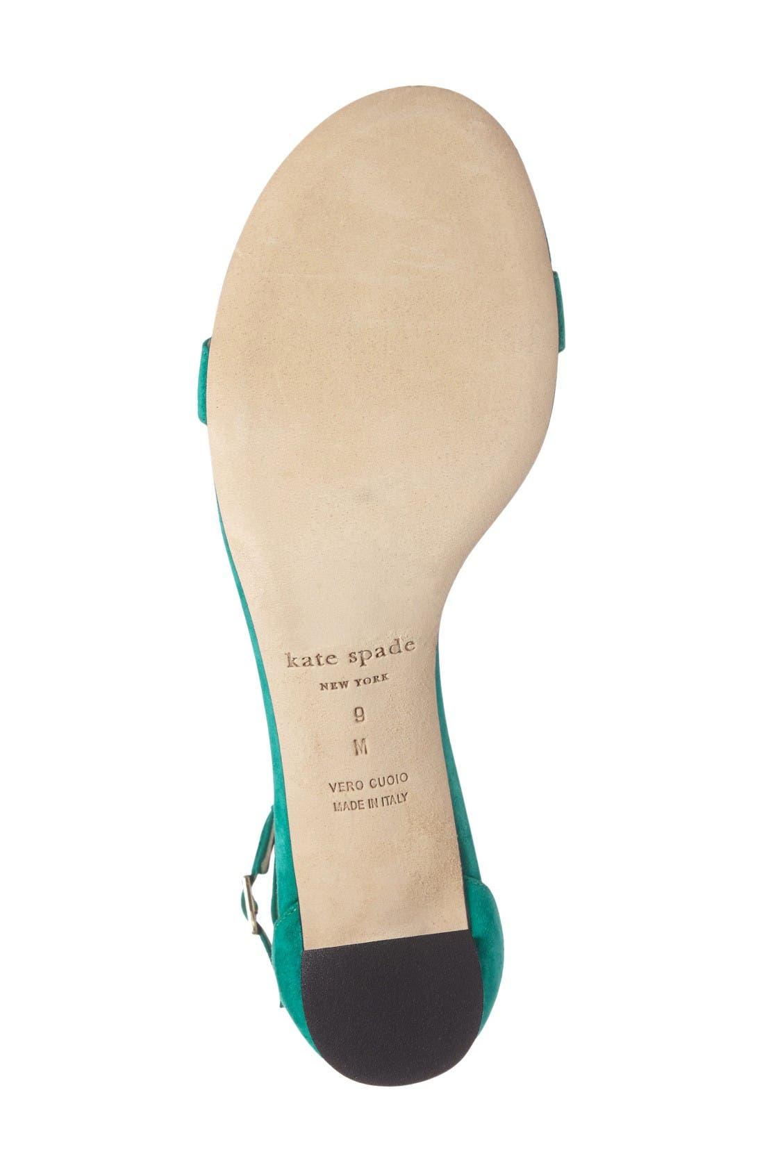 Alternate Image 4  - kate spade new york menorca ankle strap sandal (Women)